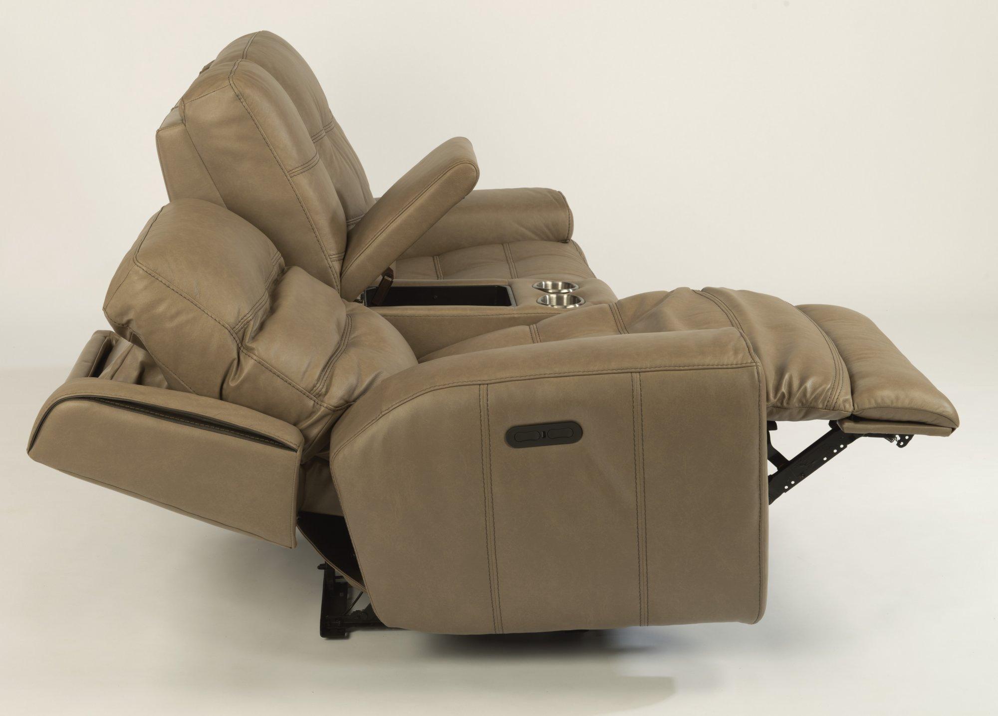 Fantastic Flexsteel 1681 64Ph Wicklow Leather Power Reclining Creativecarmelina Interior Chair Design Creativecarmelinacom