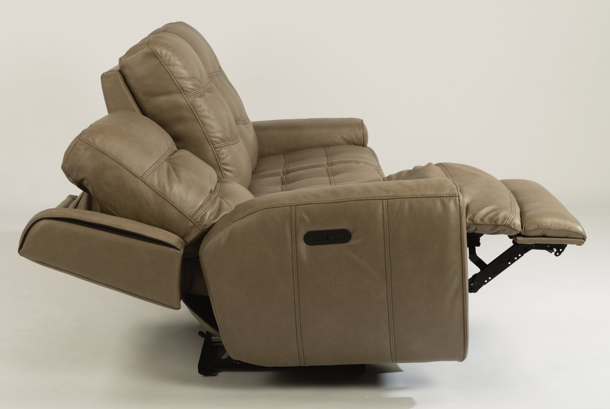 Stupendous Flexsteel 1681 62Ph Wicklow Leather Power Reclining Sofa Creativecarmelina Interior Chair Design Creativecarmelinacom