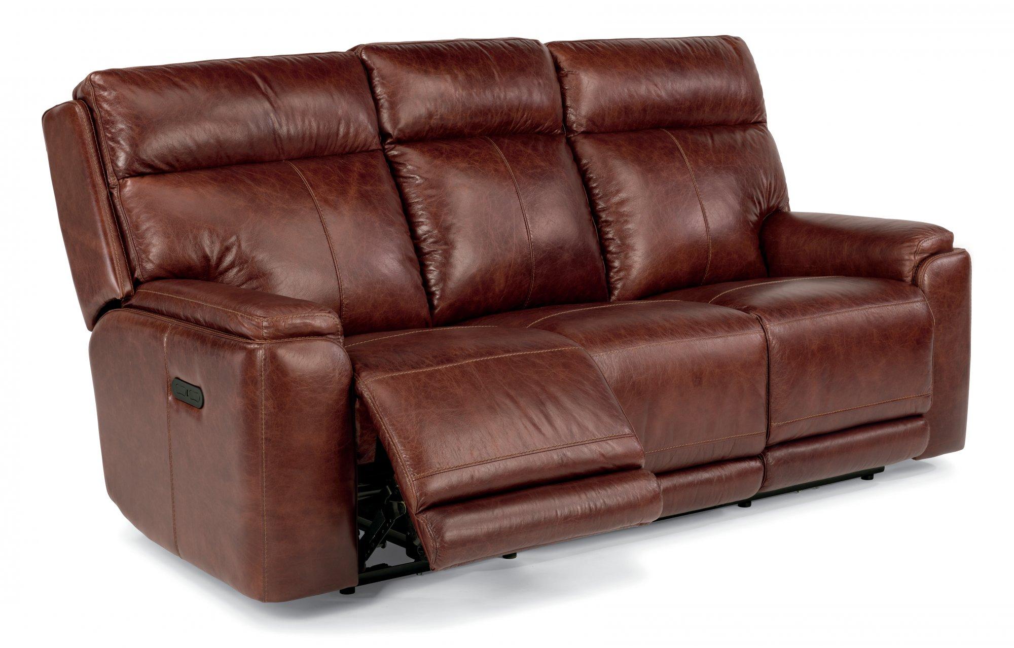 Flexsteel Sienna  Leather Power Reclining Sofa with Power Headrests
