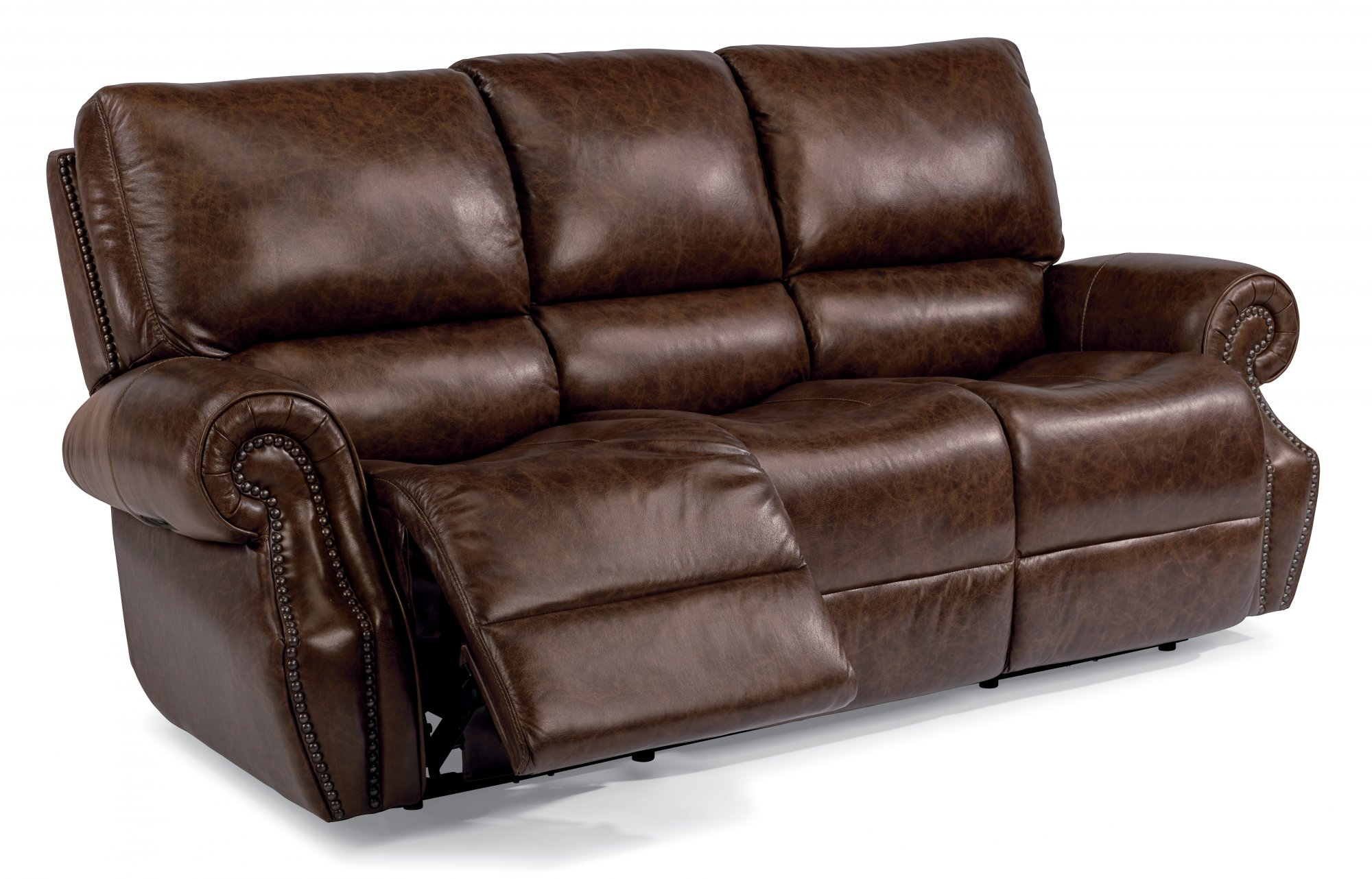 Peachy Flexsteel 1583 62Ph Colton Leather Power Reclining Sofa Dailytribune Chair Design For Home Dailytribuneorg