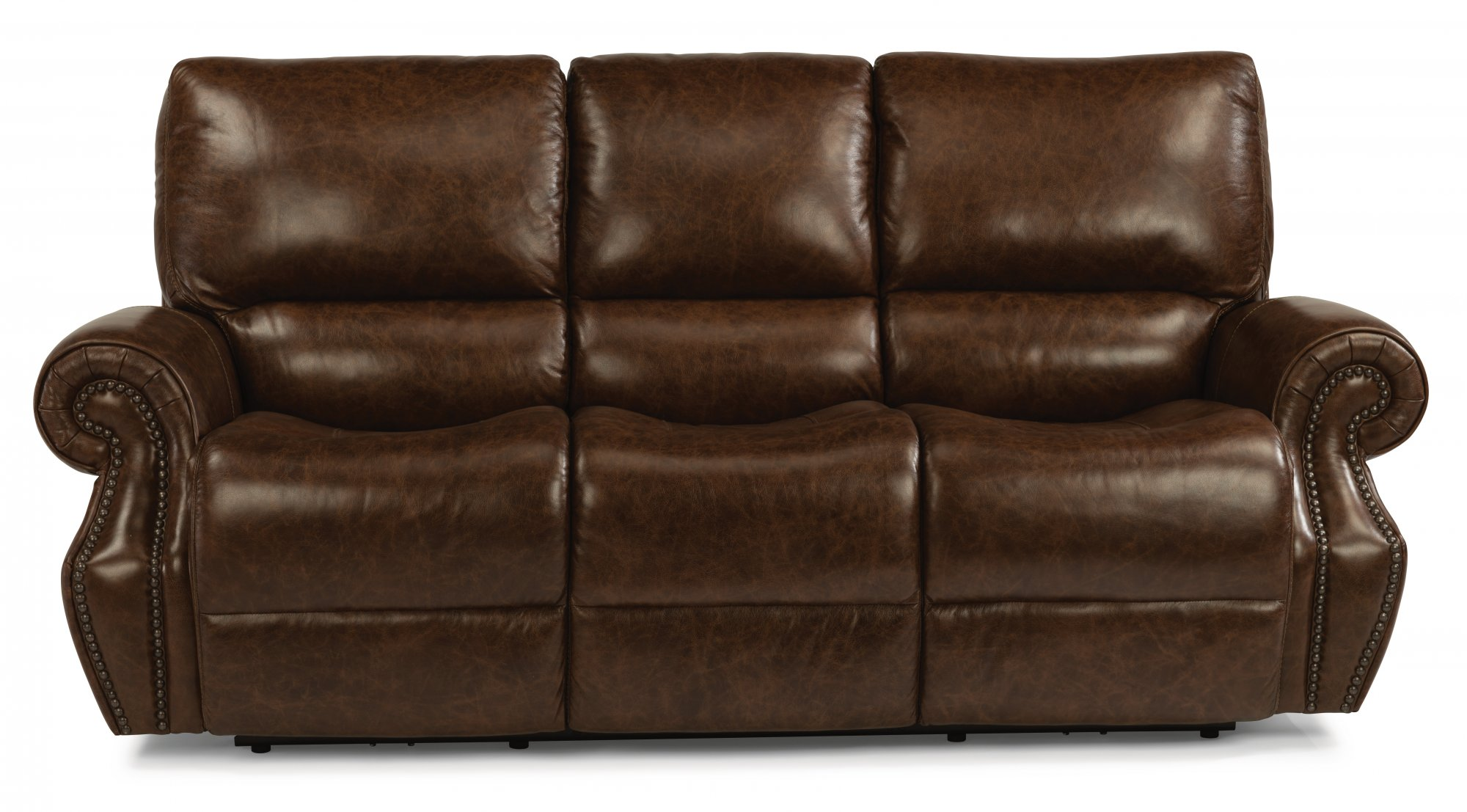 Awe Inspiring Flexsteel 1583 62Ph Colton Leather Power Reclining Sofa Dailytribune Chair Design For Home Dailytribuneorg