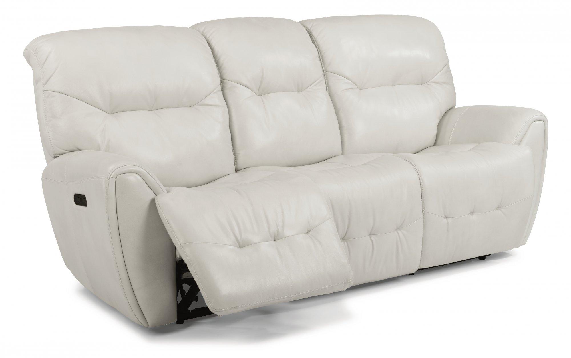 Flexsteel Blaise  Leather Power Reclining Sofa with Power Headrests