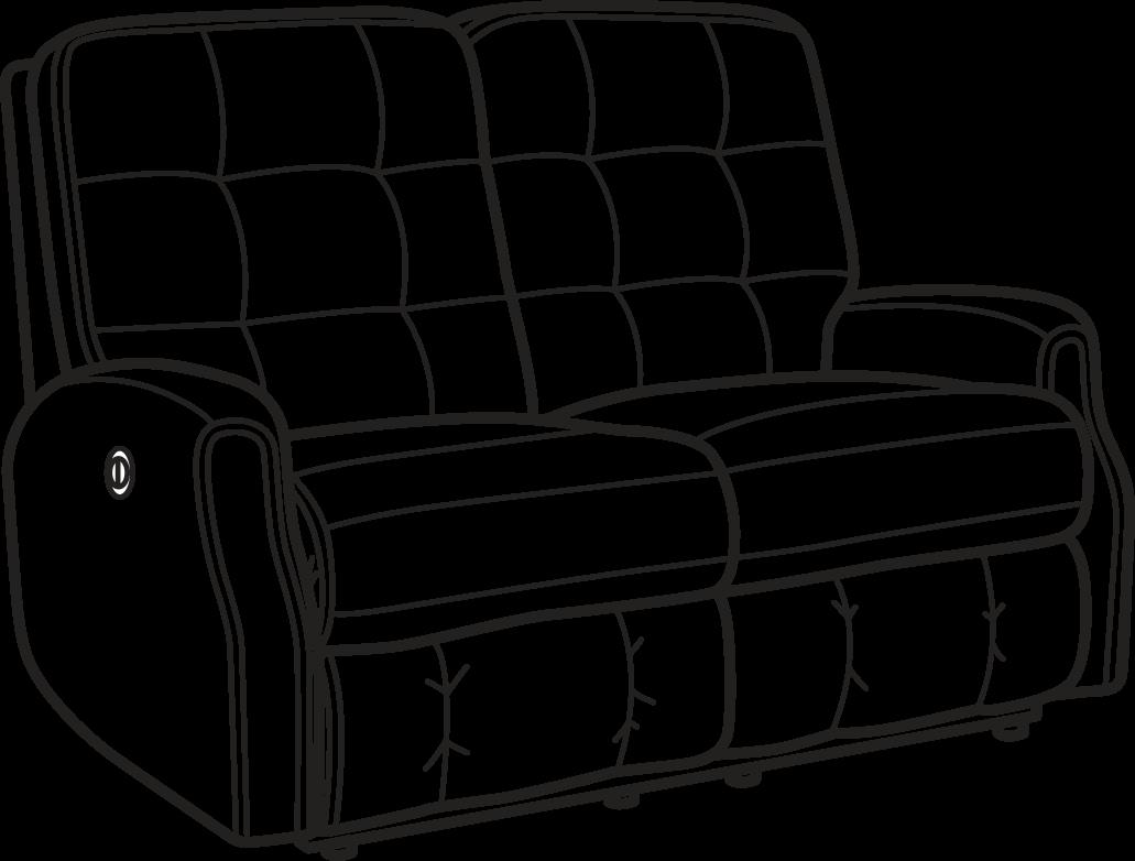 Marvelous Flexsteel 2882 60M Devon Fabric Power Reclining Loveseat Gamerscity Chair Design For Home Gamerscityorg