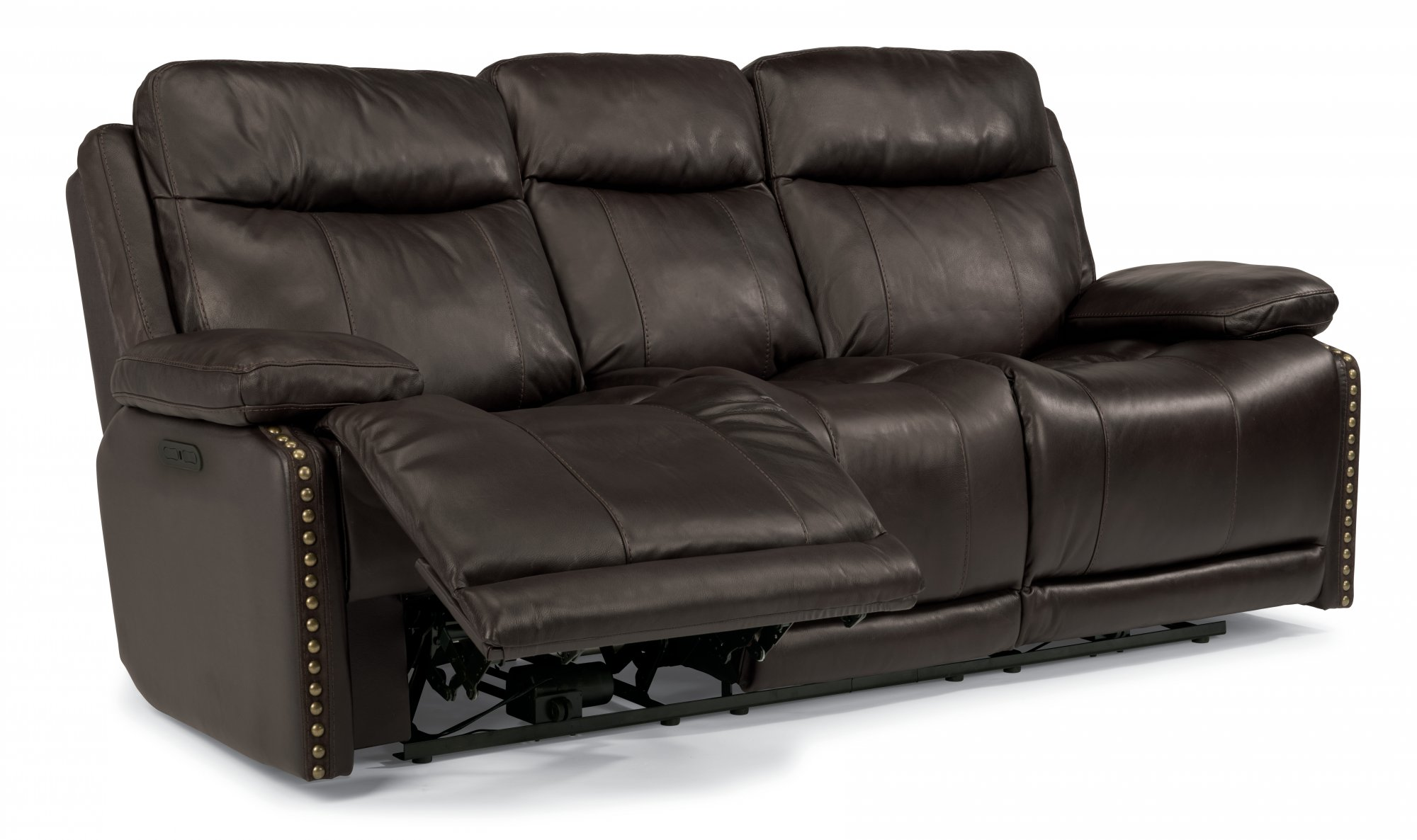 Prime Flexsteel 1315 62Ph Russell Leather Power Reclining Sofa Squirreltailoven Fun Painted Chair Ideas Images Squirreltailovenorg