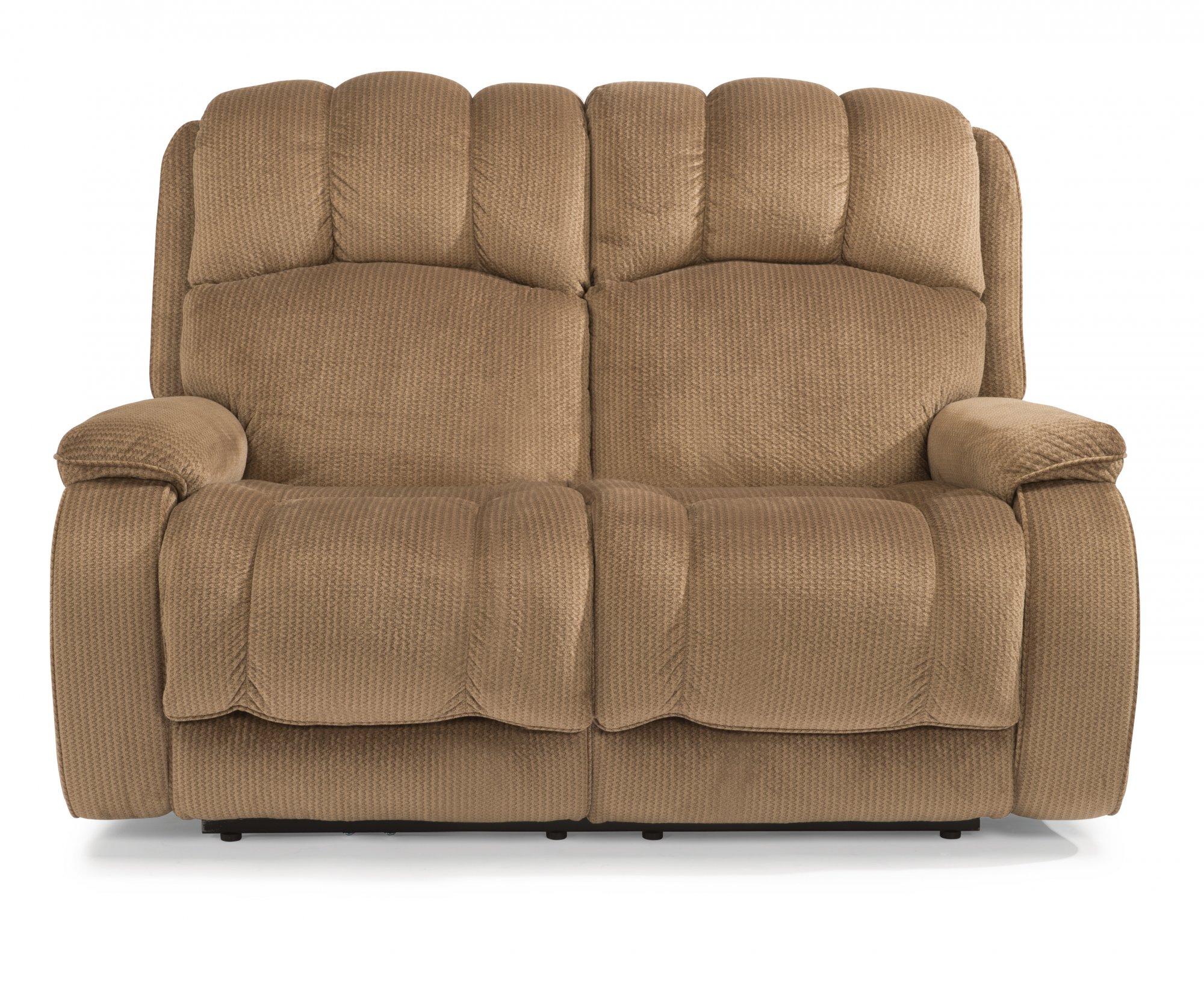 Stupendous Flexsteel 4841 60M Huron Fabric Power Reclining Loveseat Andrewgaddart Wooden Chair Designs For Living Room Andrewgaddartcom