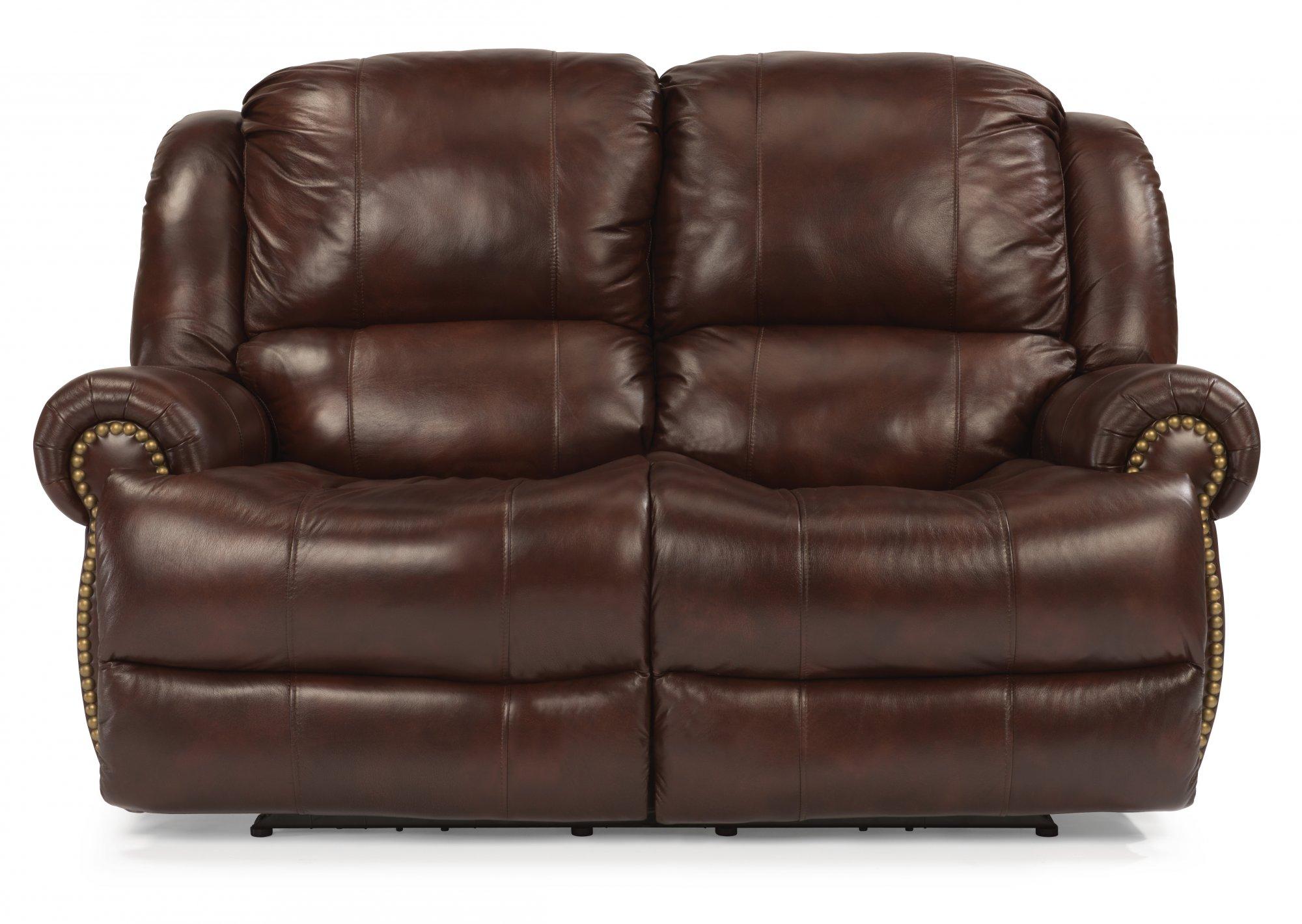 Fantastic Flexsteel 1311 60P Capitol Leather Power Reclining Machost Co Dining Chair Design Ideas Machostcouk