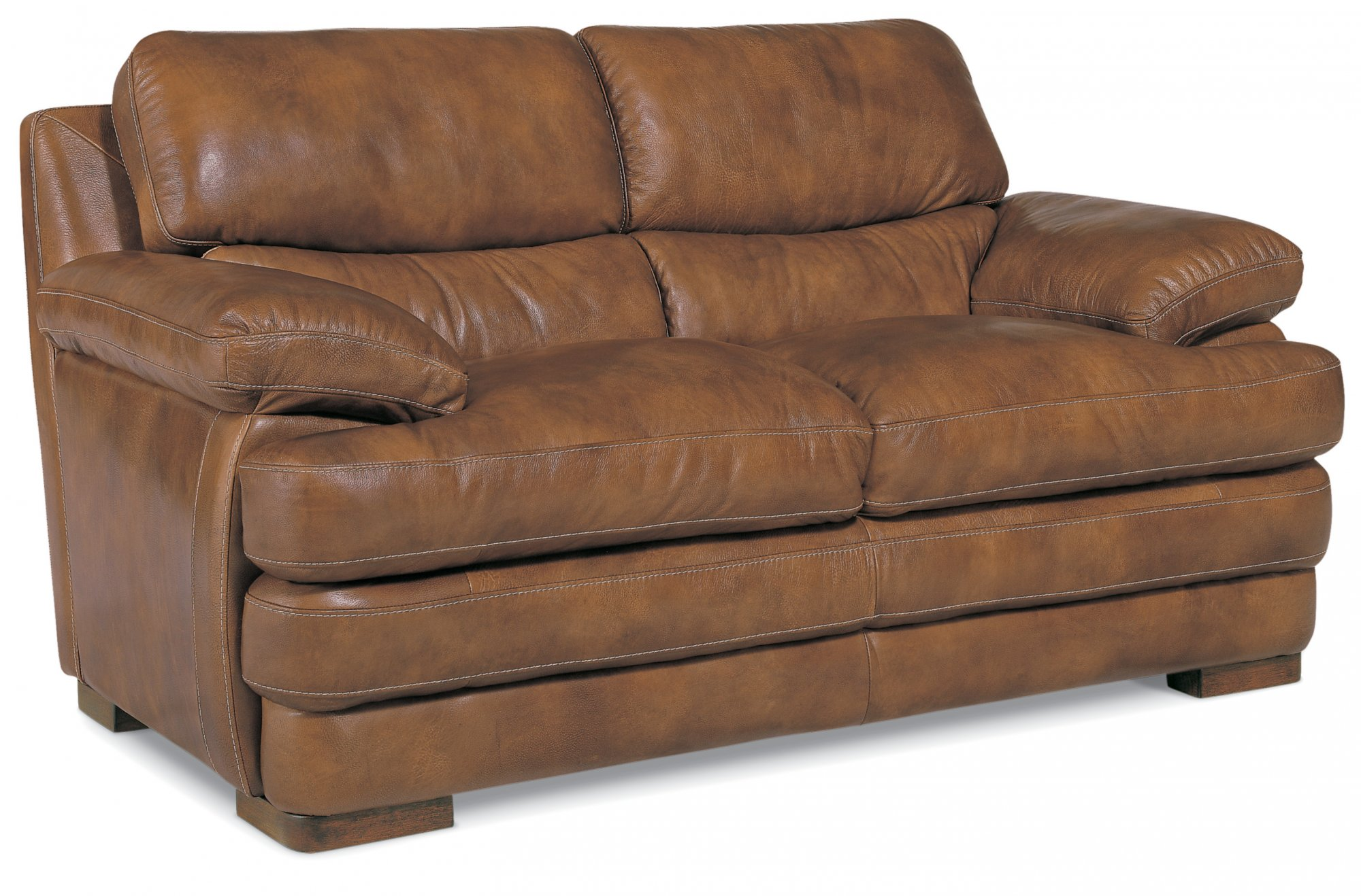 Flexsteel Dylan  Leather Loveseat without Nailhead Trim