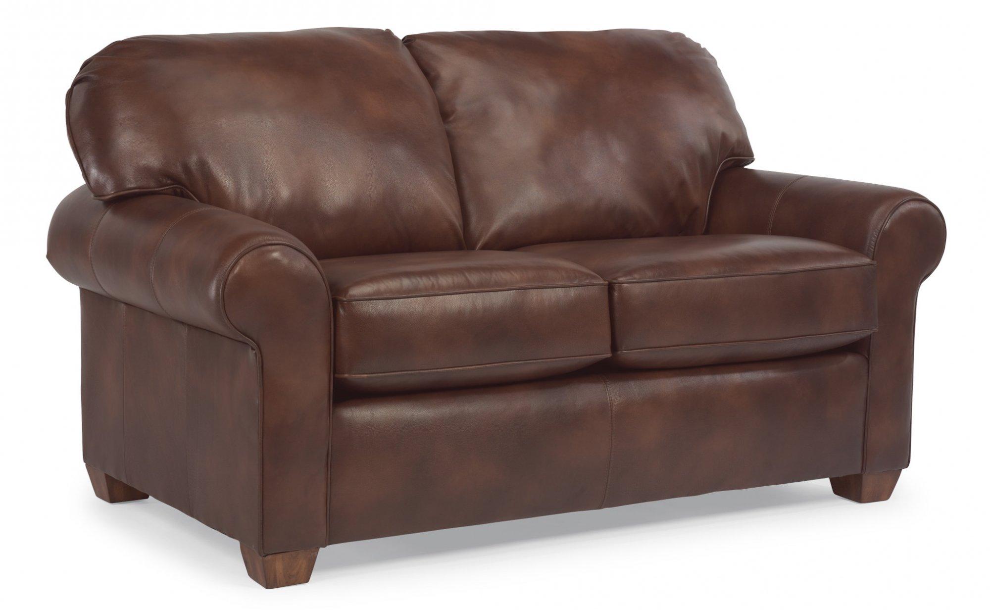 Flexsteel Thornton  Leather Loveseat