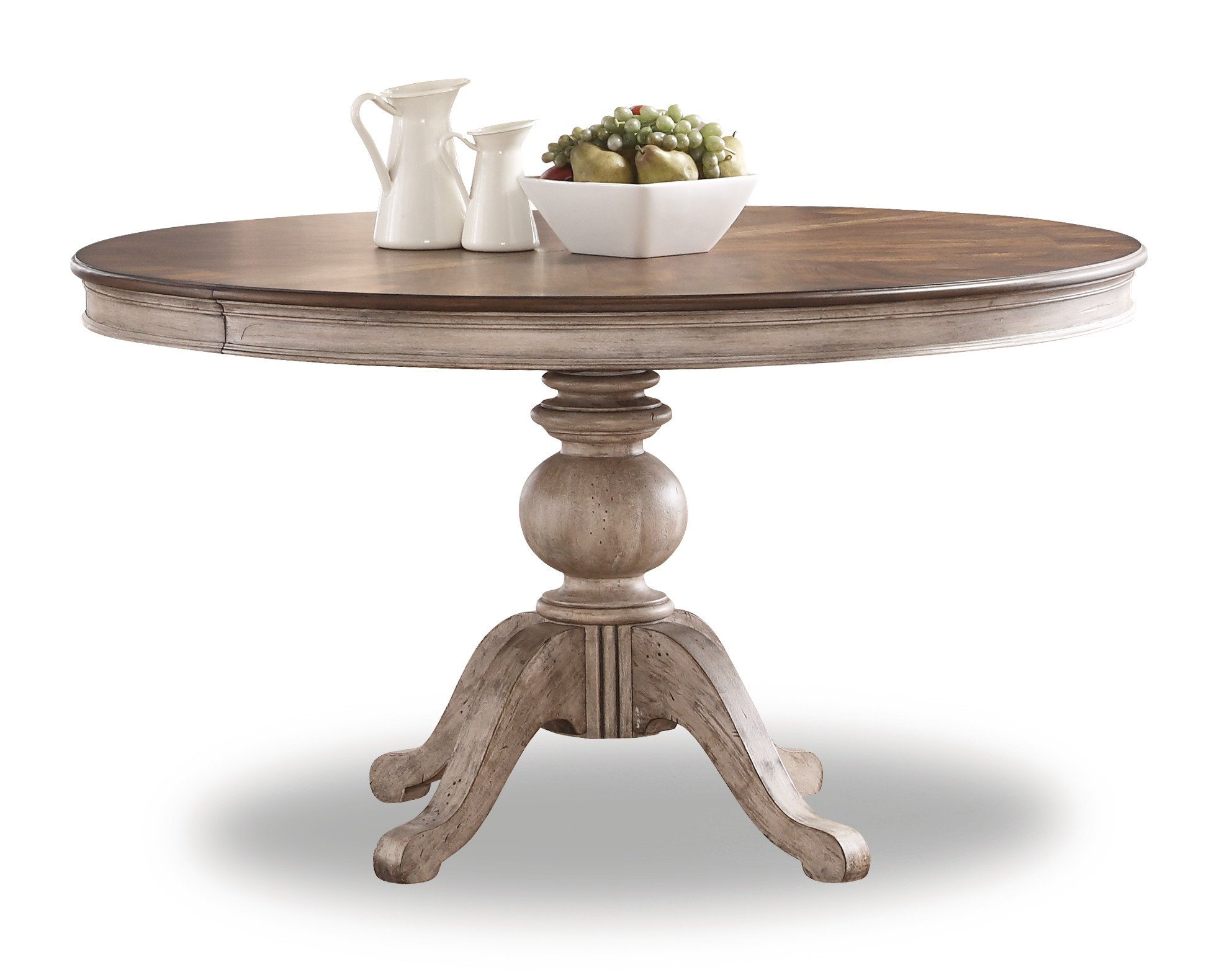 Flexsteel Plymouth  Round Pedestal Dining Table