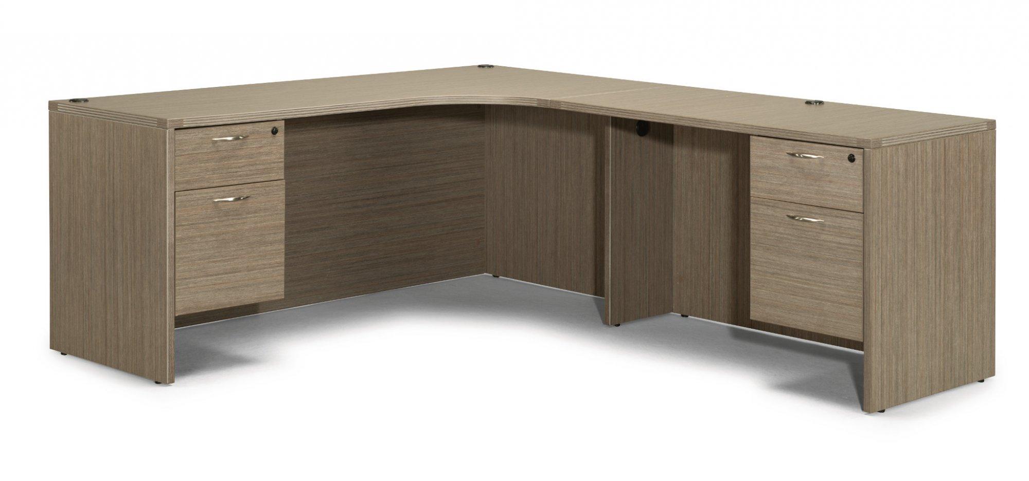Flexsteel Fairplex  Right Executive Corner L Desk with 3/4 Peds