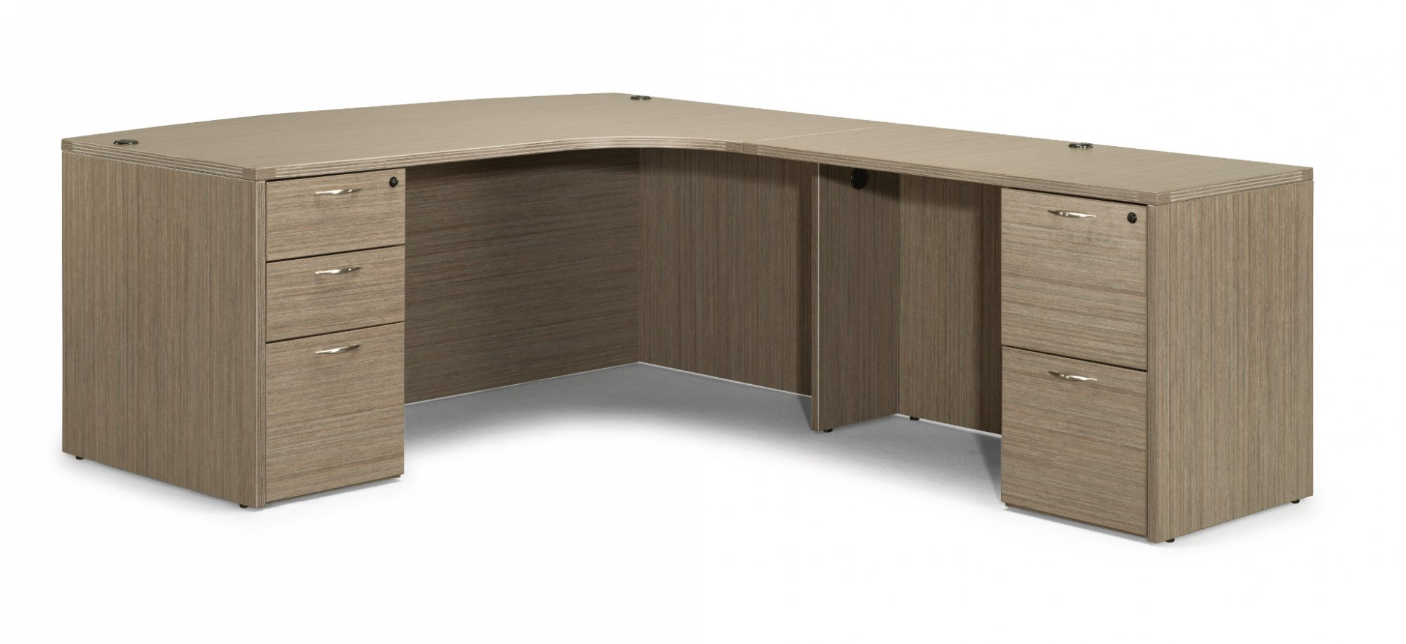 Flexsteel Fairplex  Right Executive Corner Bow Front L Desk
