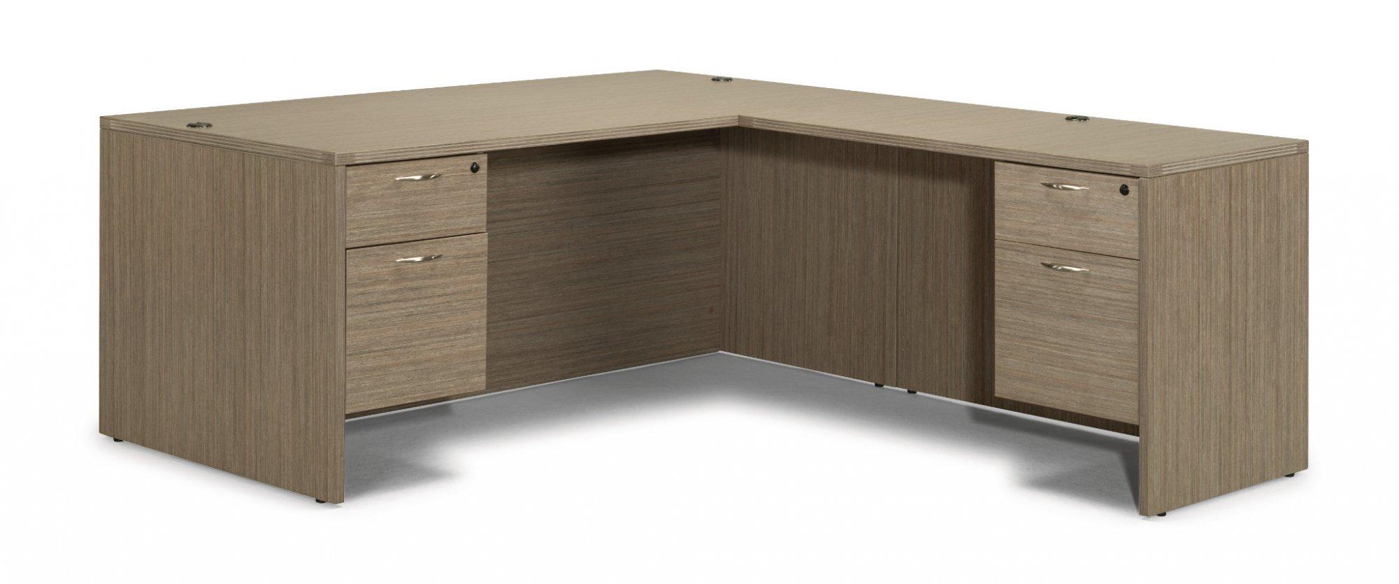 Flexsteel Fairplex  Right/Left Executive L Desk with 3/4 Peds