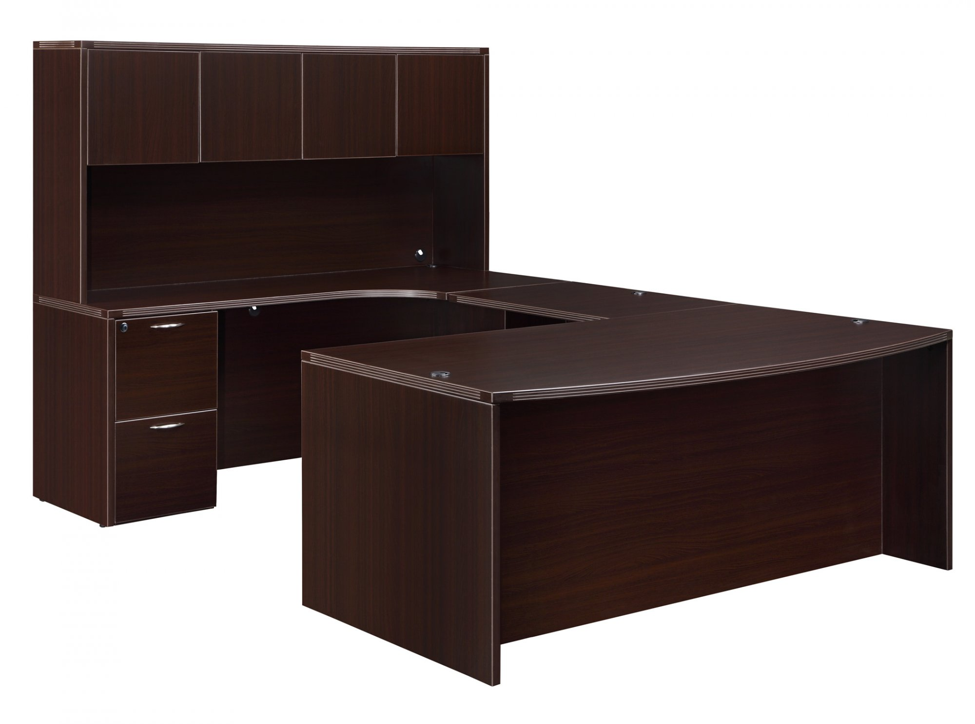 Flexsteel Fairplex  Left U Desk with Corner Credenza