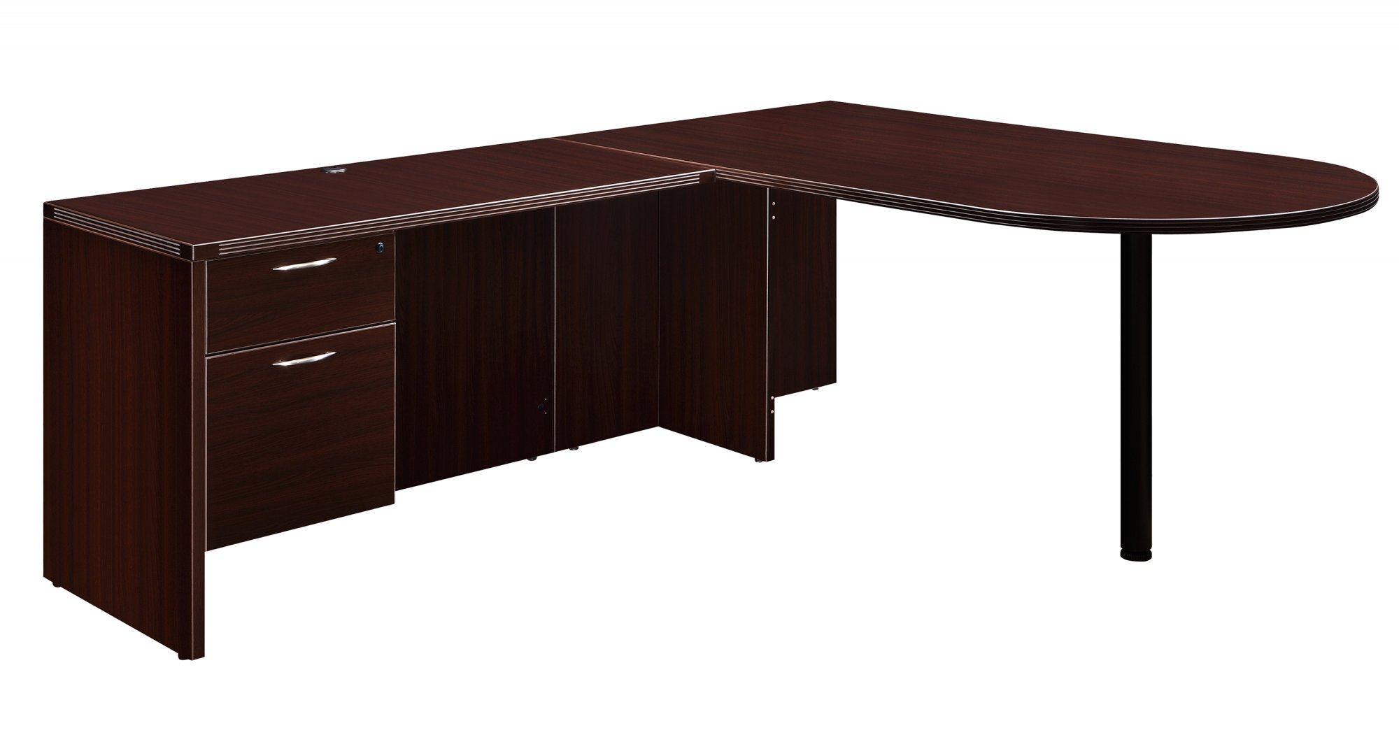 Flexsteel Fairplex  Right/Left Bullet L Desk with 3/4 Pedestals