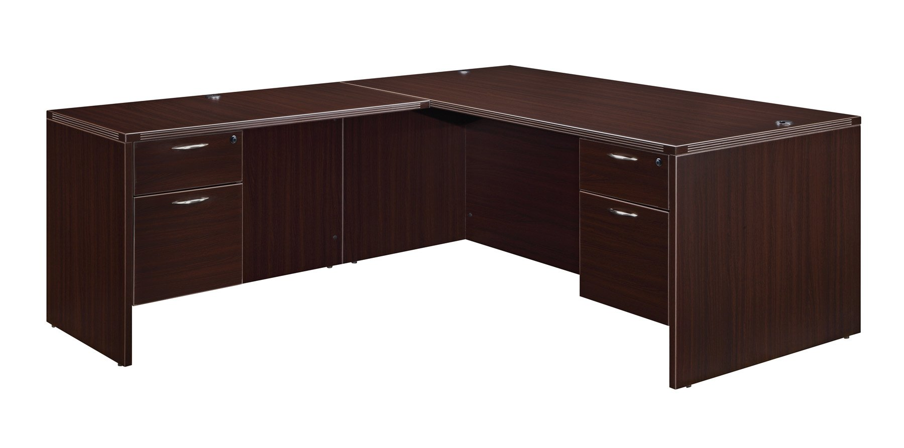 Flexsteel Fairplex  Right/Left Executive L Desk with 3/4 Pedestal