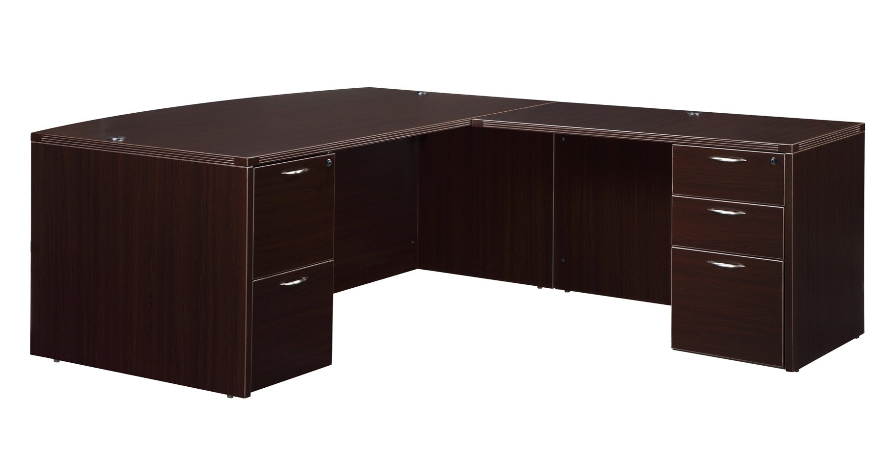 Flexsteel Fairplex  Right/Left Executive Bow-Front L Desk