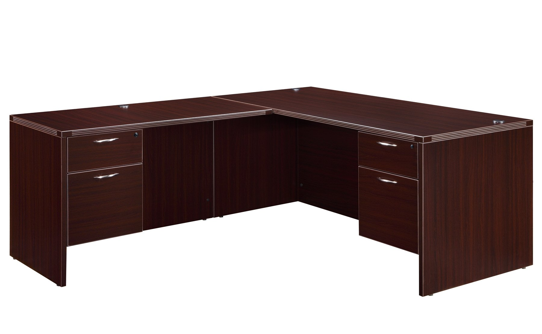 Flexsteel Fairplex  Right/Left Junior Executive L Desk with 3/4 Pedestal