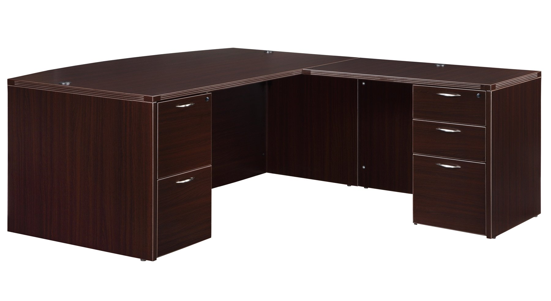 Flexsteel Fairplex  Right/Left Bow-Front L Desk