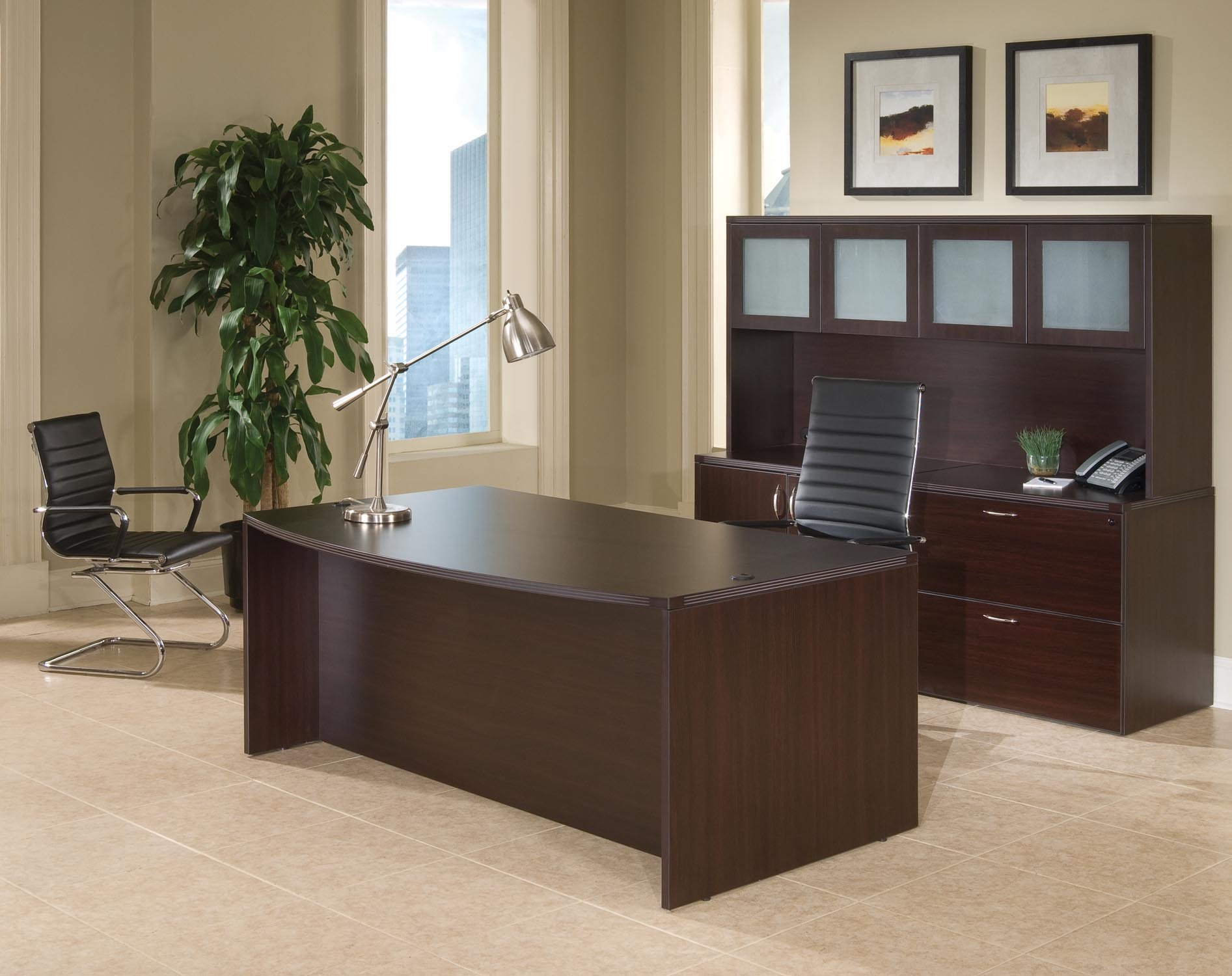 Flexsteel Fairplex  Executive Desk/Storage Suite