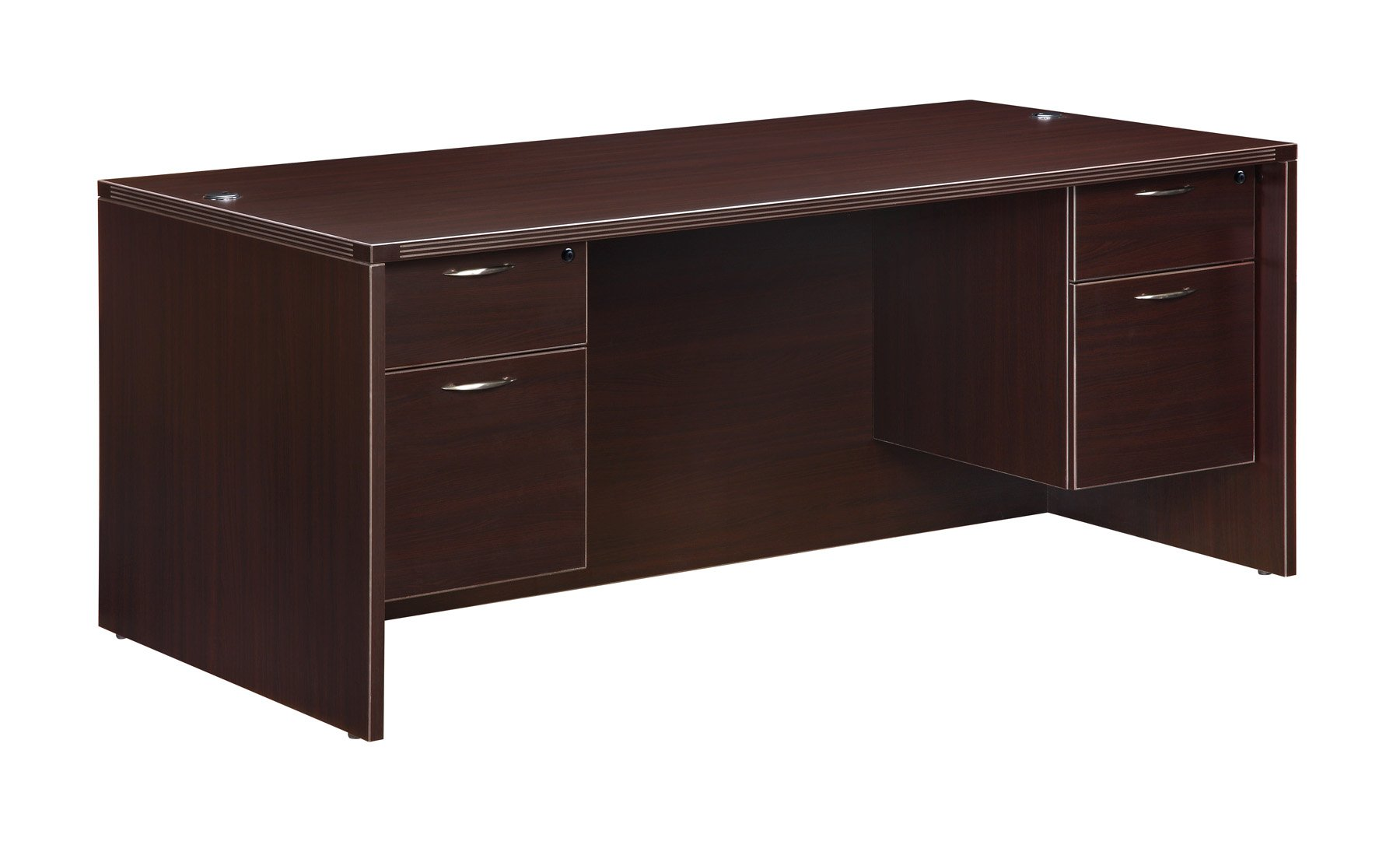 Flexsteel Fairplex  Executive Desk with 3/4 Pedestals