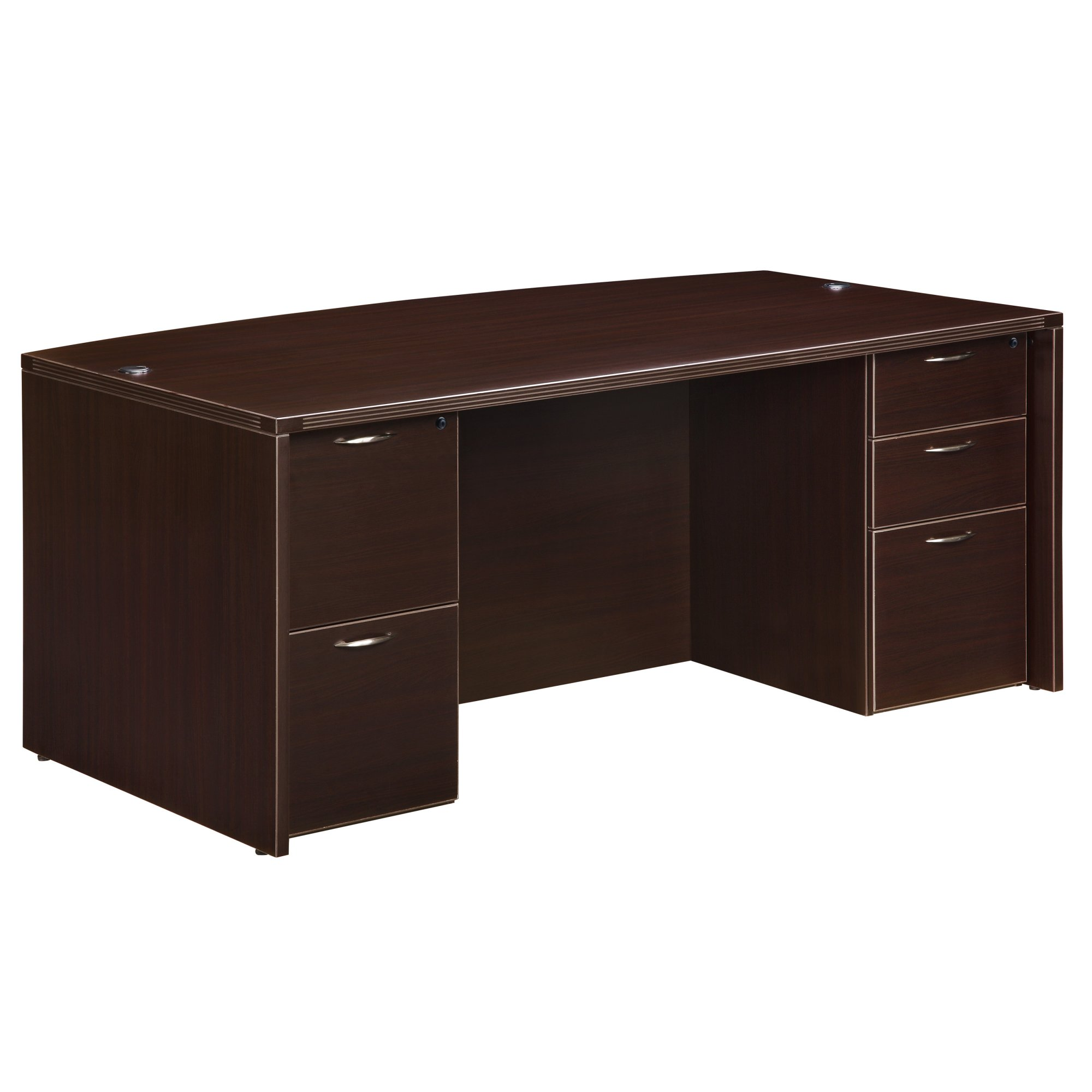 Flexsteel Fairplex  Executive Bow-Front Desk