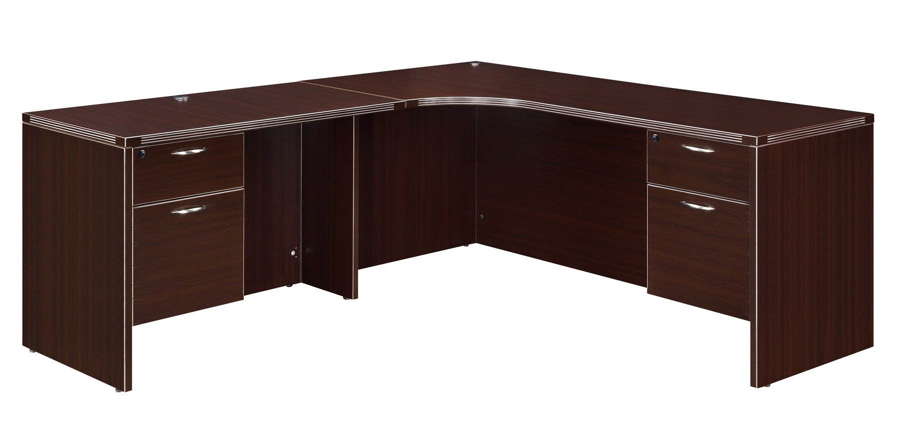 Flexsteel Fairplex  Left Corner L Desk with 3/4 Pedestals