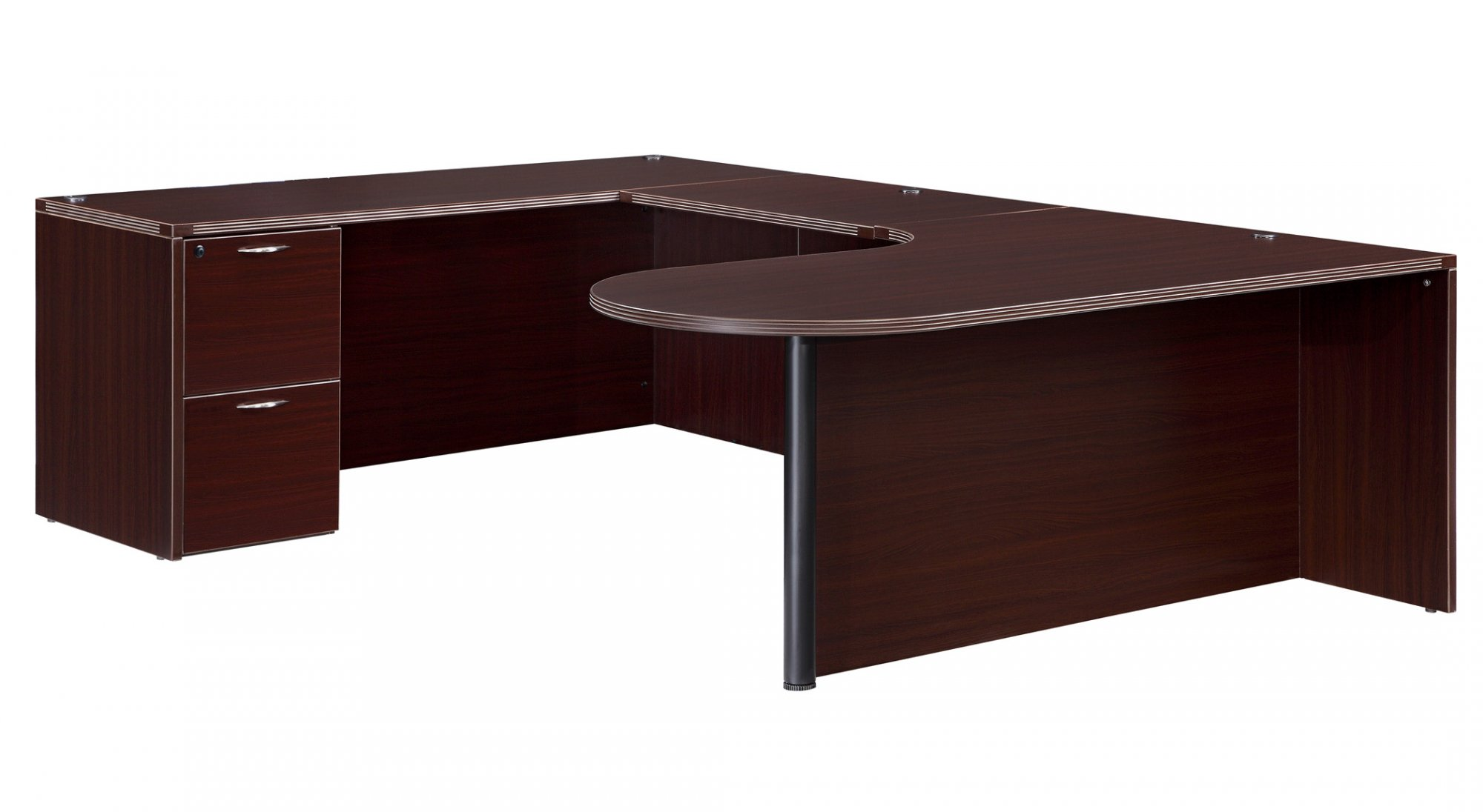 Flexsteel Fairplex  Left Executive Corner Peninsula U Desk