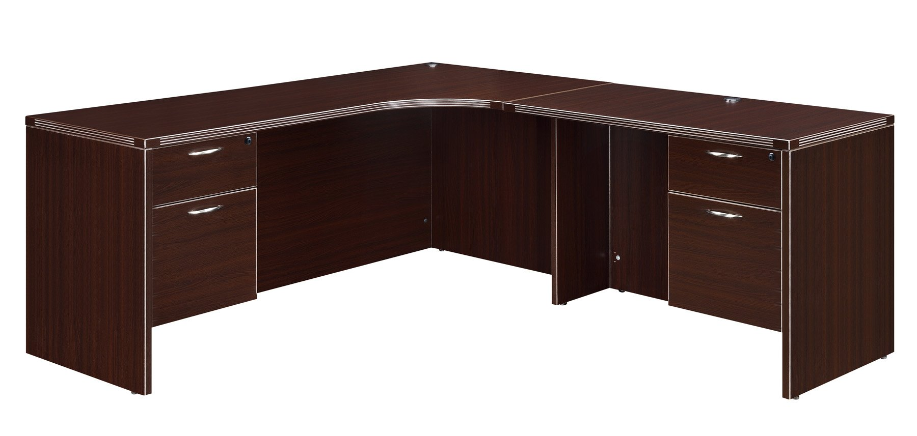 Flexsteel Fairplex  Right Corner L Desk with 3/4 Pedestals