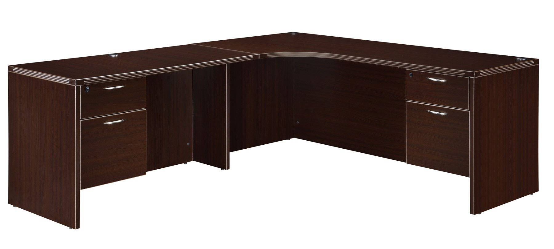 Flexsteel Fairplex  Left Executive Corner L Desk with 3/4 Pedestals