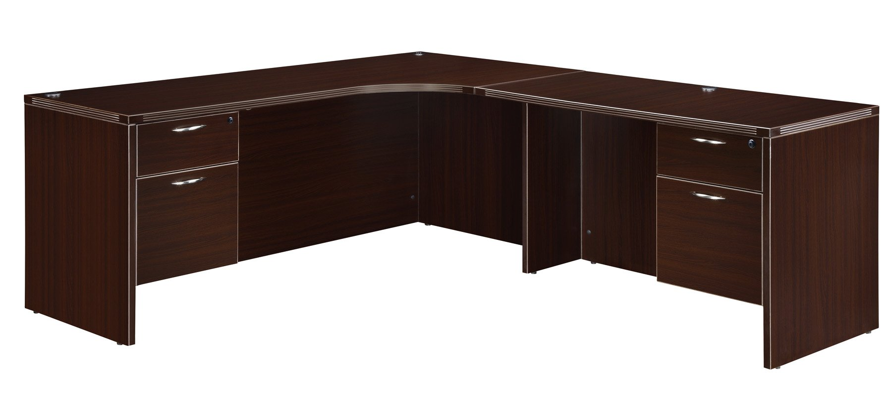Flexsteel Fairplex  Right Executive Corner L Desk with 3/4 Pedestals