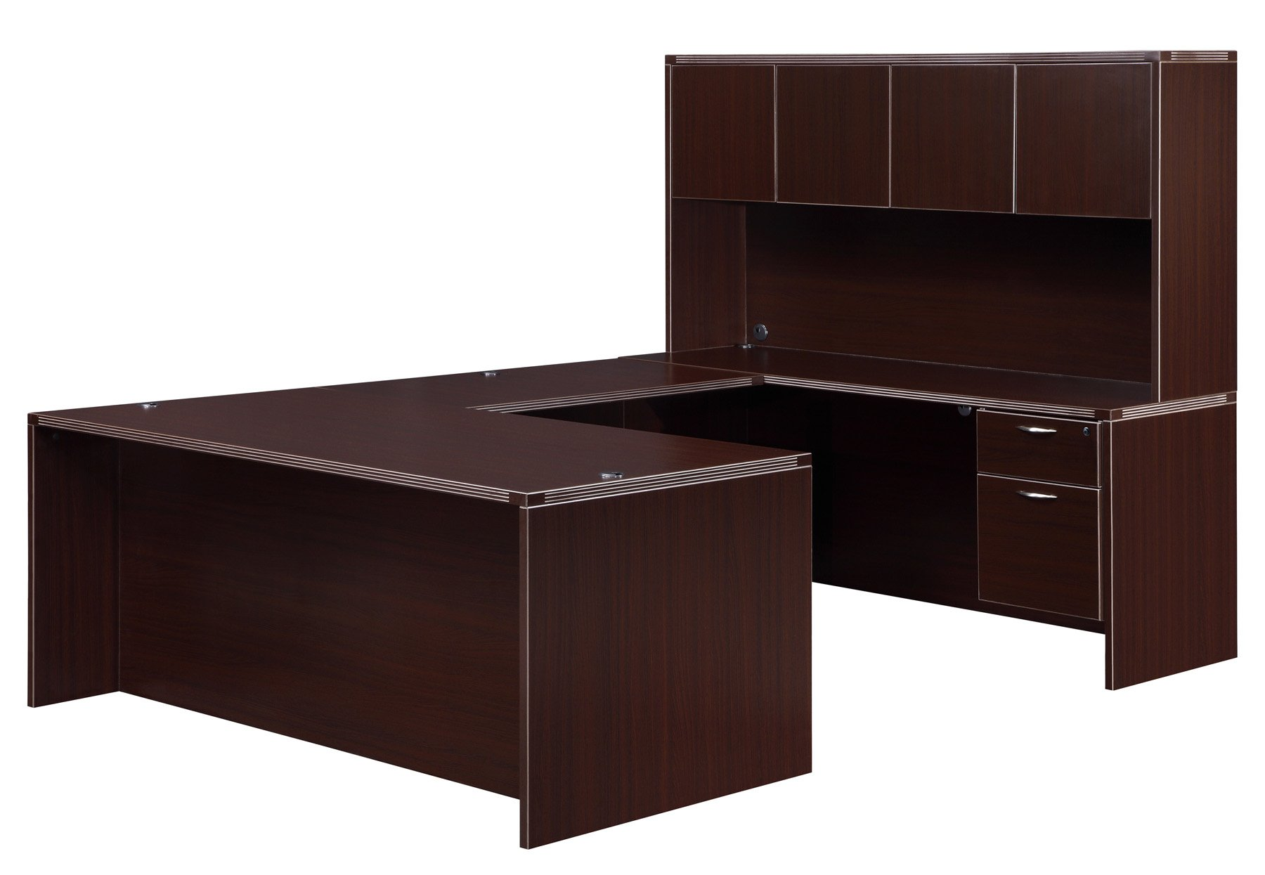Flexsteel Fairplex  Right/Left Executive U Desk with 3/4 Pedestals