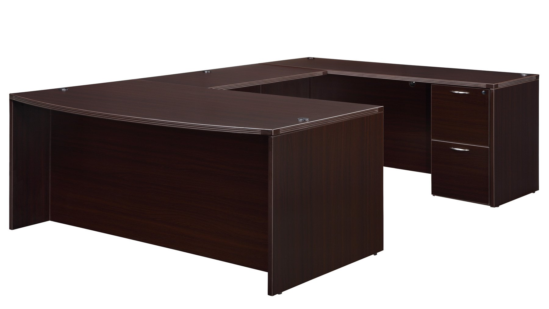Flexsteel Fairplex  Right/Left Executive Bow-Front U Desk