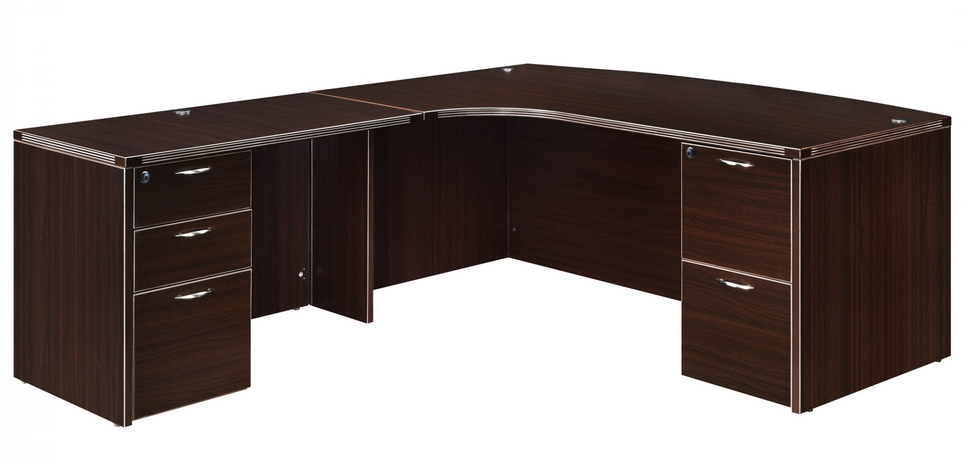 Flexsteel Fairplex  Left Corner Bow-Front L Desk