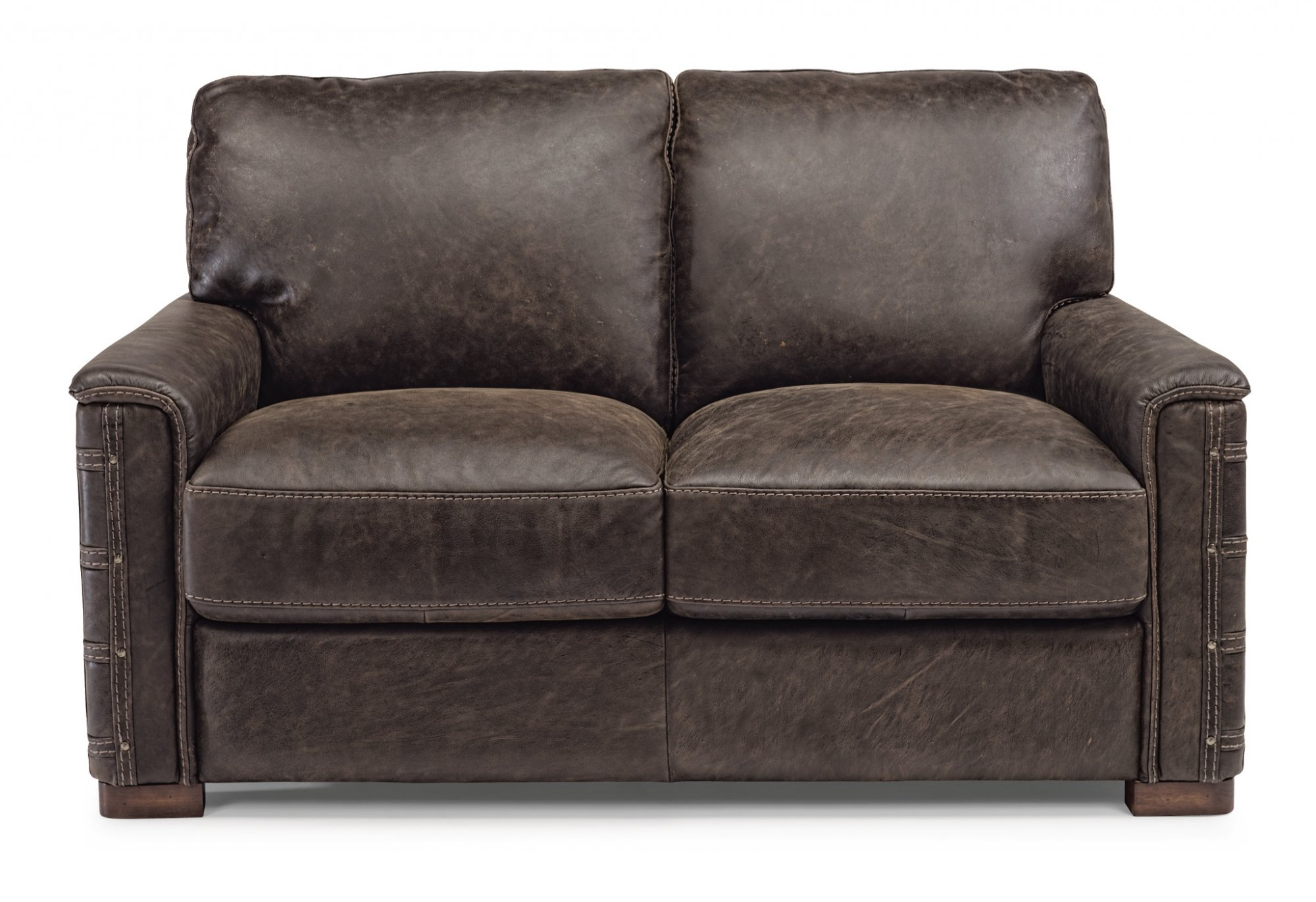 Flexsteel Lomax  Leather Loveseat