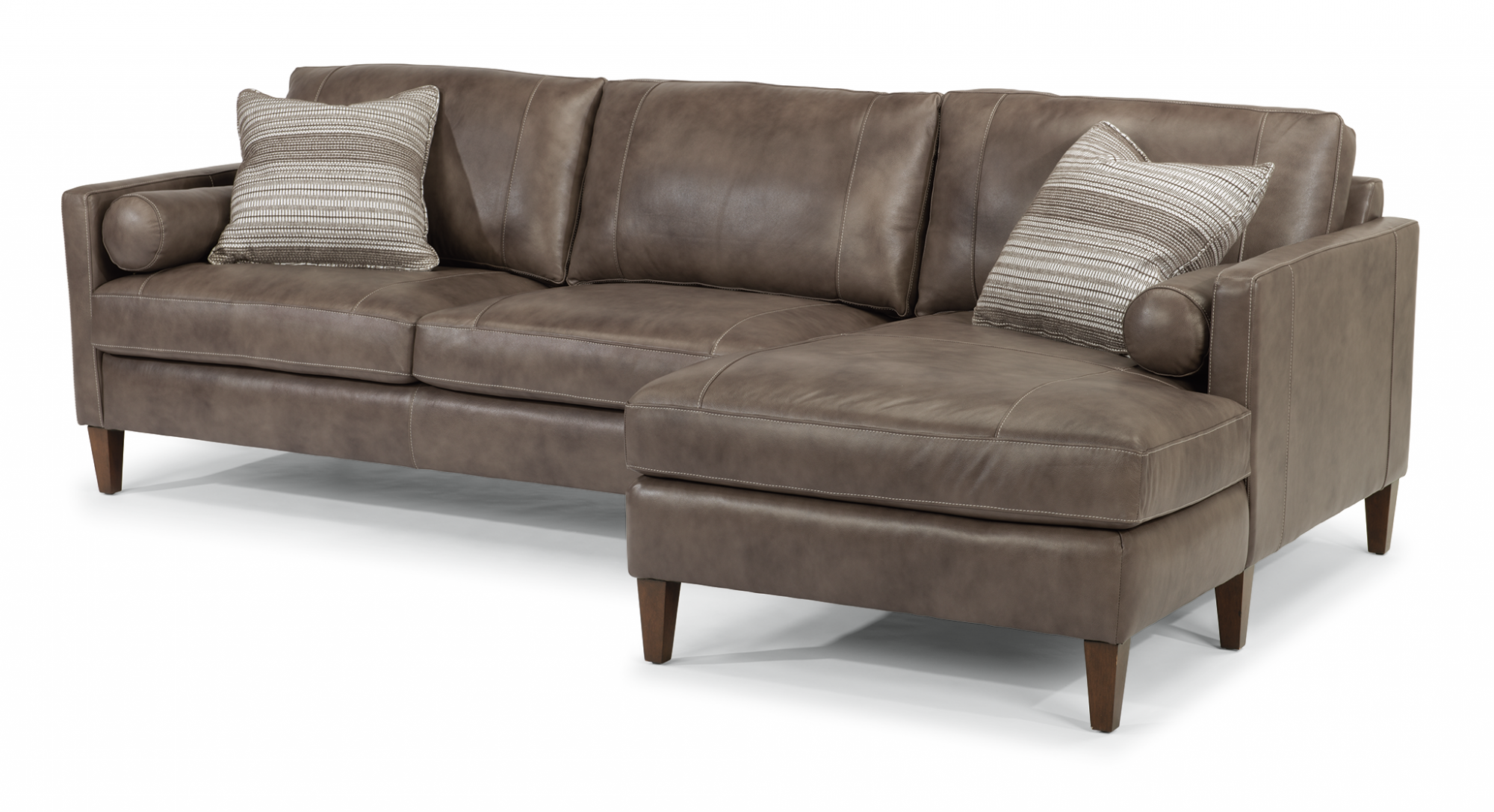 Astounding Flexsteel 1195 Sect Vivian Leather Sectional Reese Evergreenethics Interior Chair Design Evergreenethicsorg