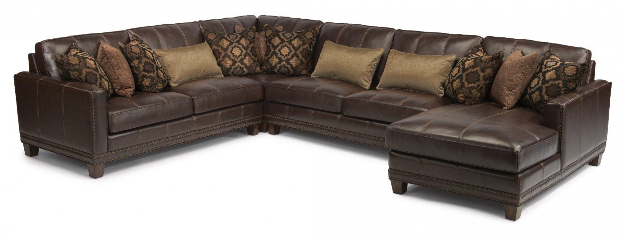 Pleasant Flexsteel 1373 Sect Port Royal Leather Sectional Craig Evergreenethics Interior Chair Design Evergreenethicsorg