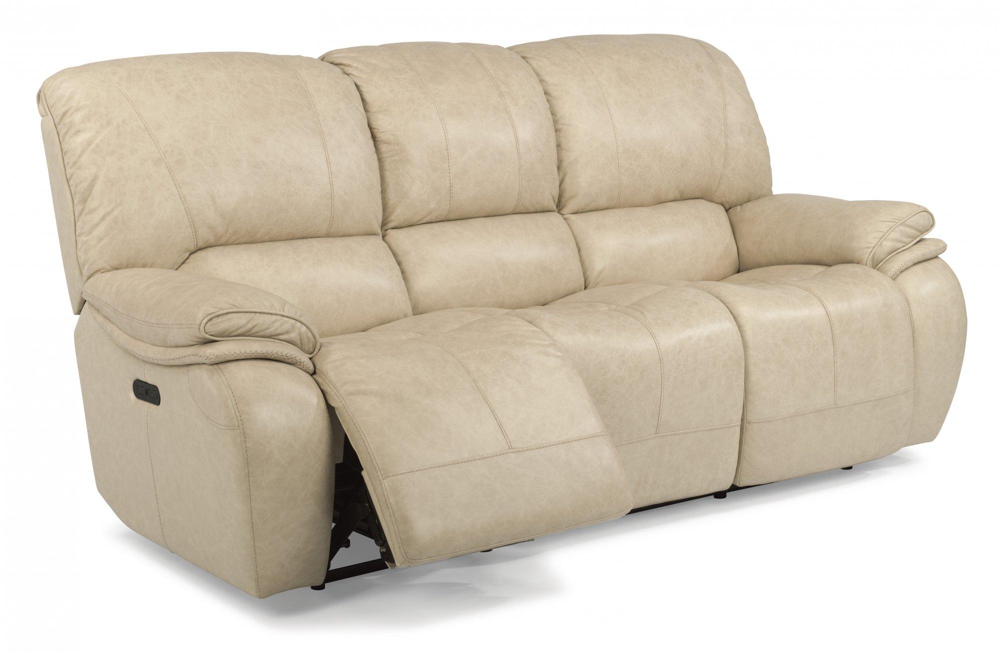 Flexsteel 1515 62ph Tobin Leather Power Reclining Sofa