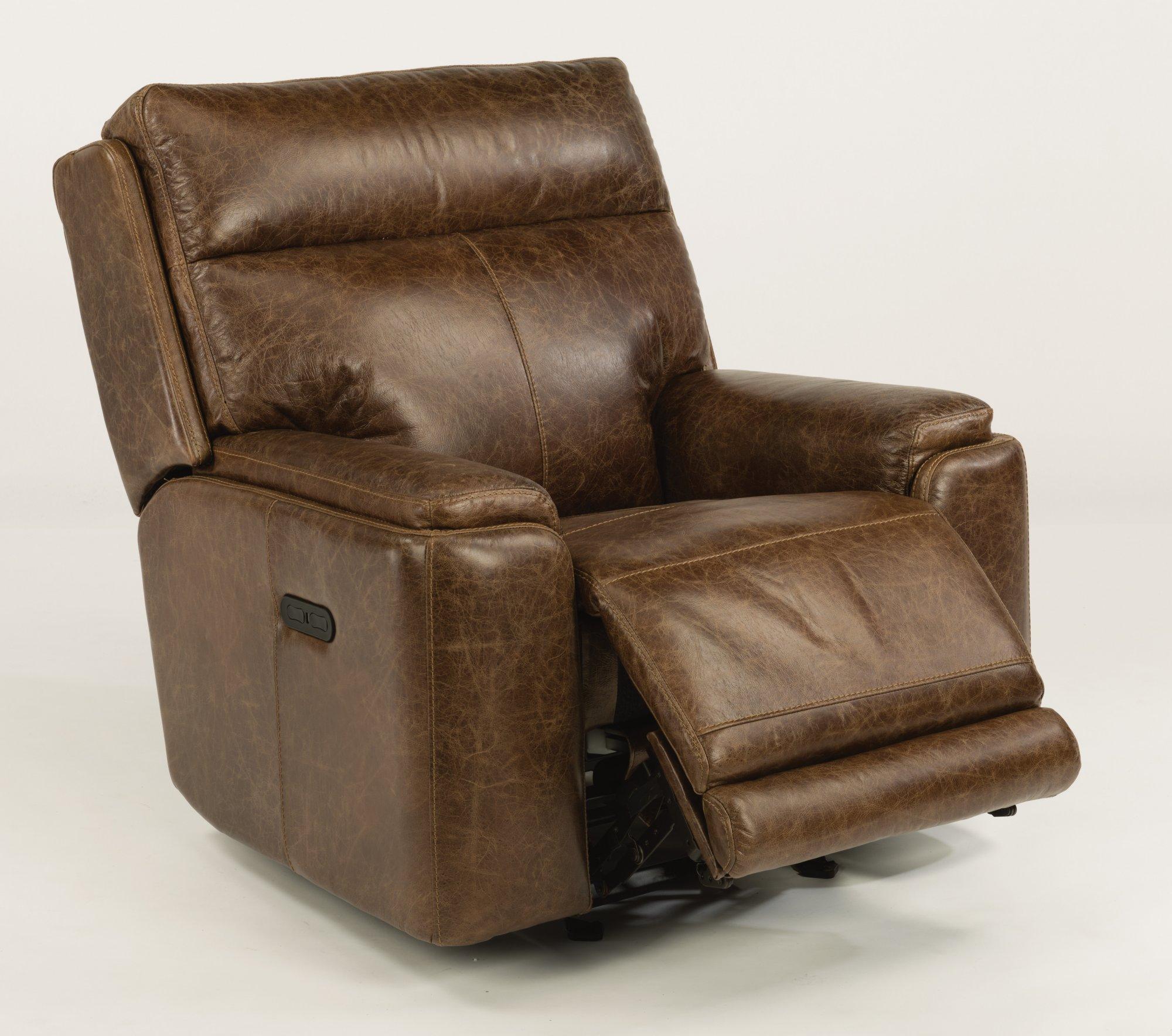 Astonishing Flexsteel 1675 54Ph Sienna Leather Power Gliding Evergreenethics Interior Chair Design Evergreenethicsorg