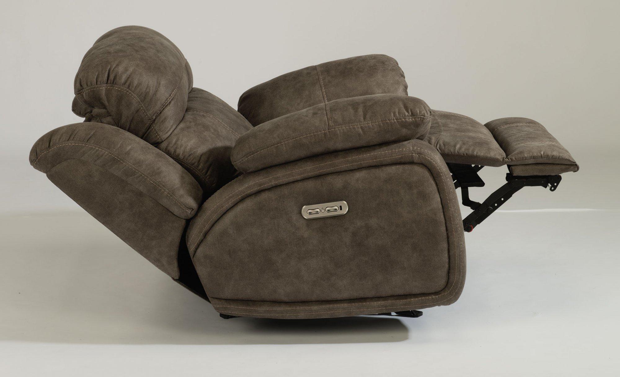 Astounding Flexsteel 1408 54Ph Como Fabric Power Gliding Recliner Pdpeps Interior Chair Design Pdpepsorg