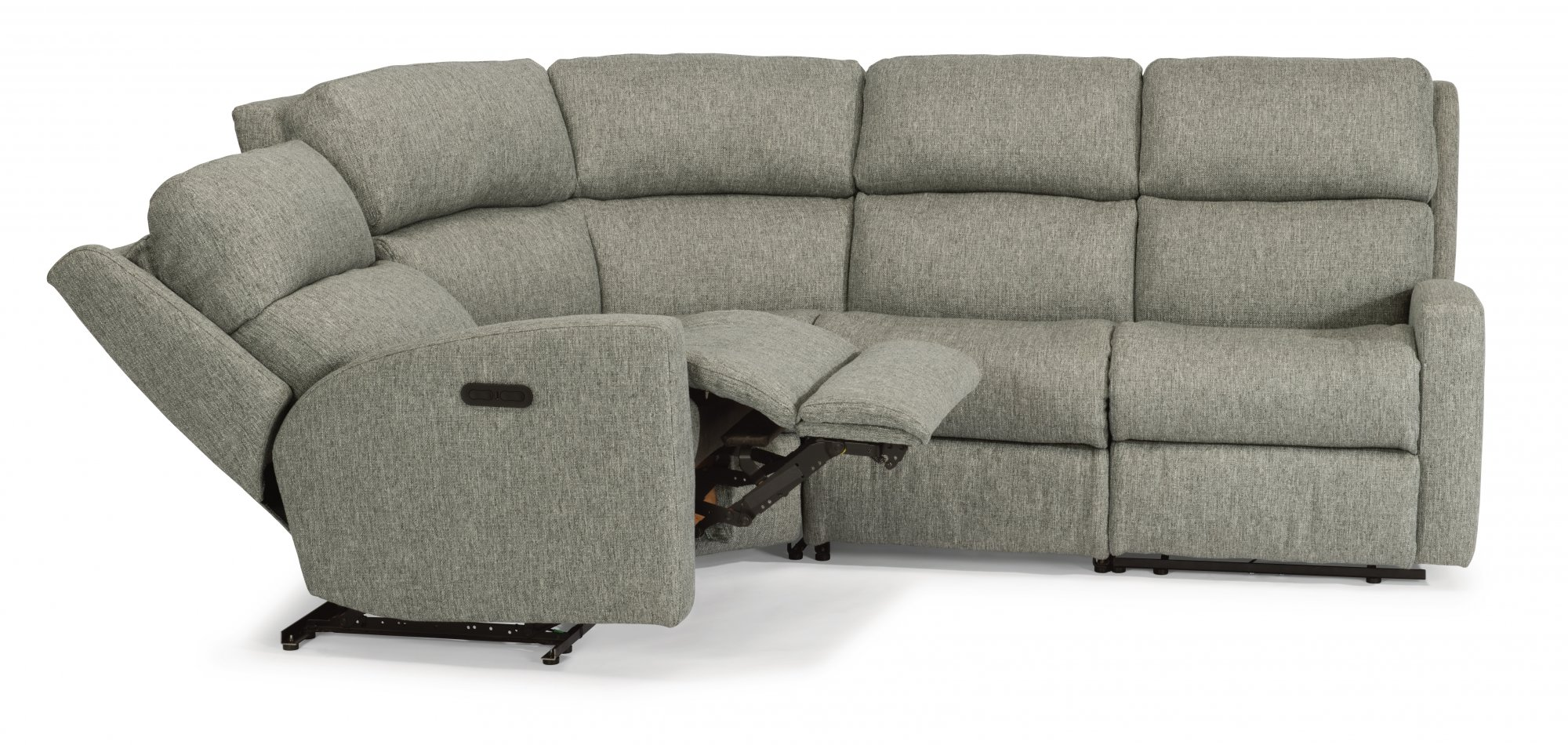 Flexsteel Catalina  Fabric Power Reclining Sectional with Power Headrests