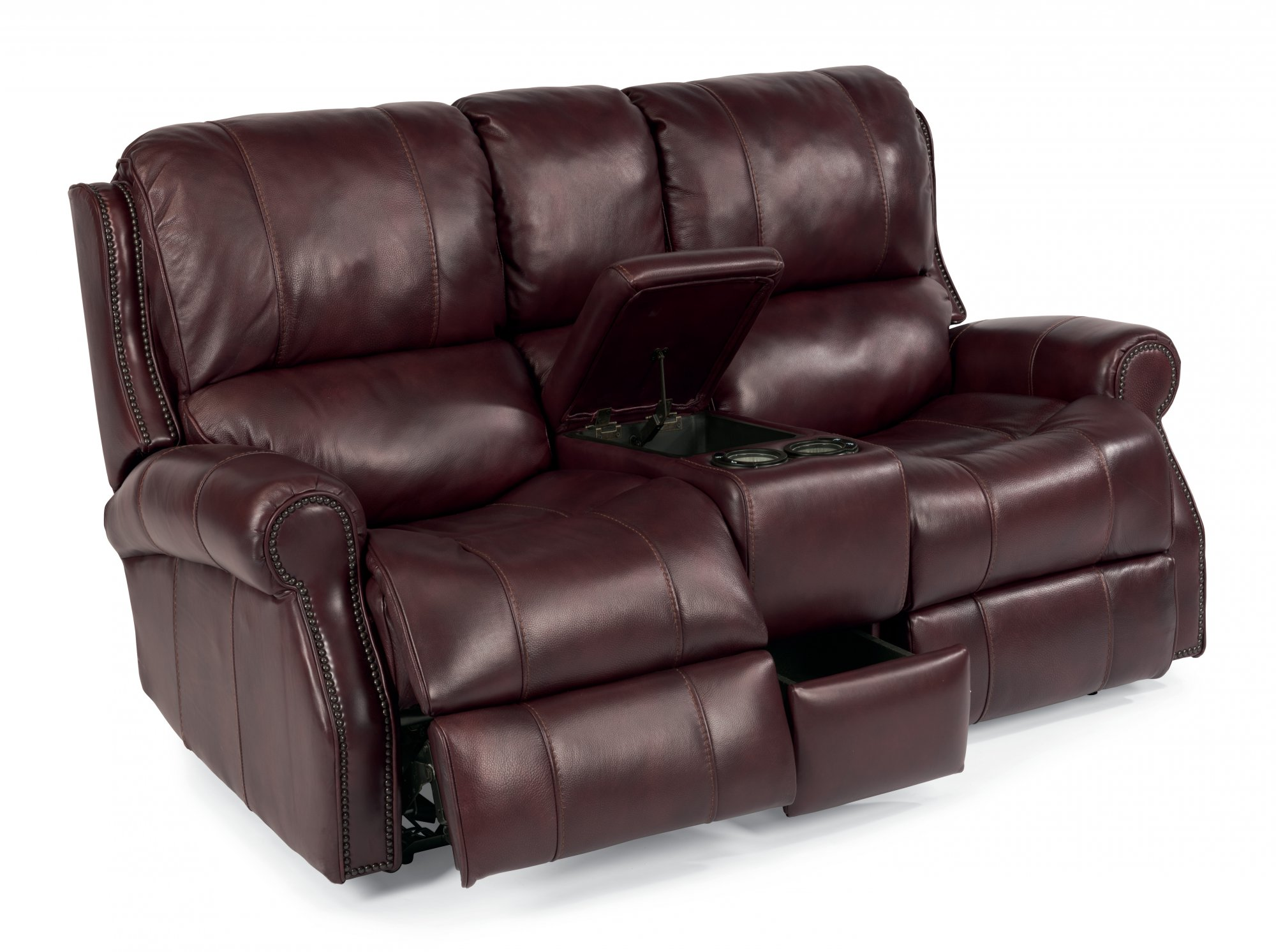 Swell Flexsteel 1533 604P Miles Leather Power Reclining Pdpeps Interior Chair Design Pdpepsorg