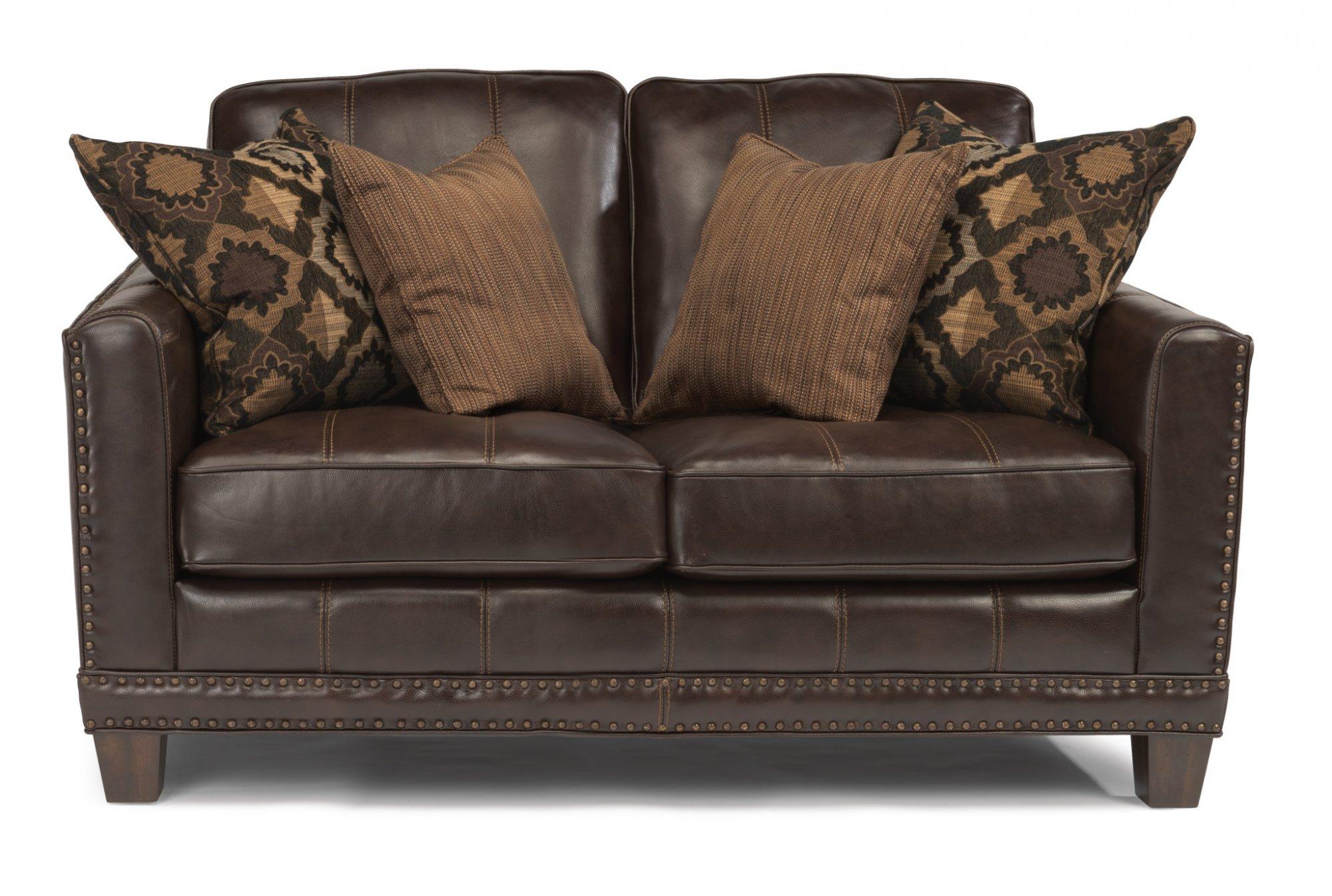 Flexsteel Port Royal  Leather Loveseat