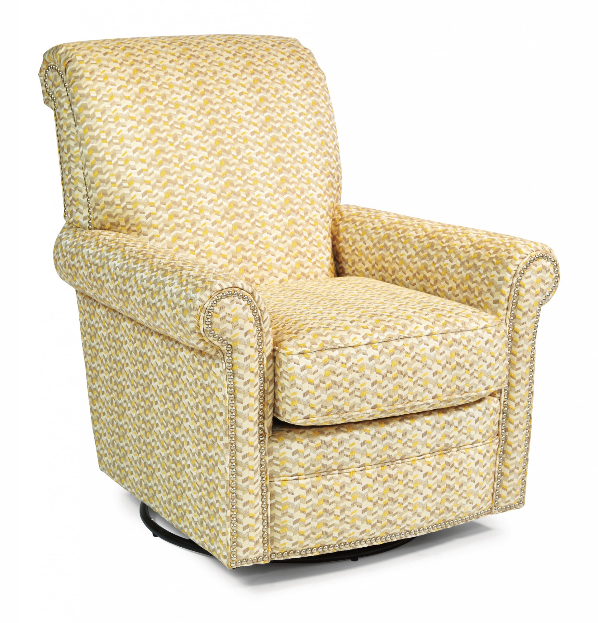 Enjoyable Flexsteel 049C 13 Plaza Fabric Swivel Glider With Theyellowbook Wood Chair Design Ideas Theyellowbookinfo