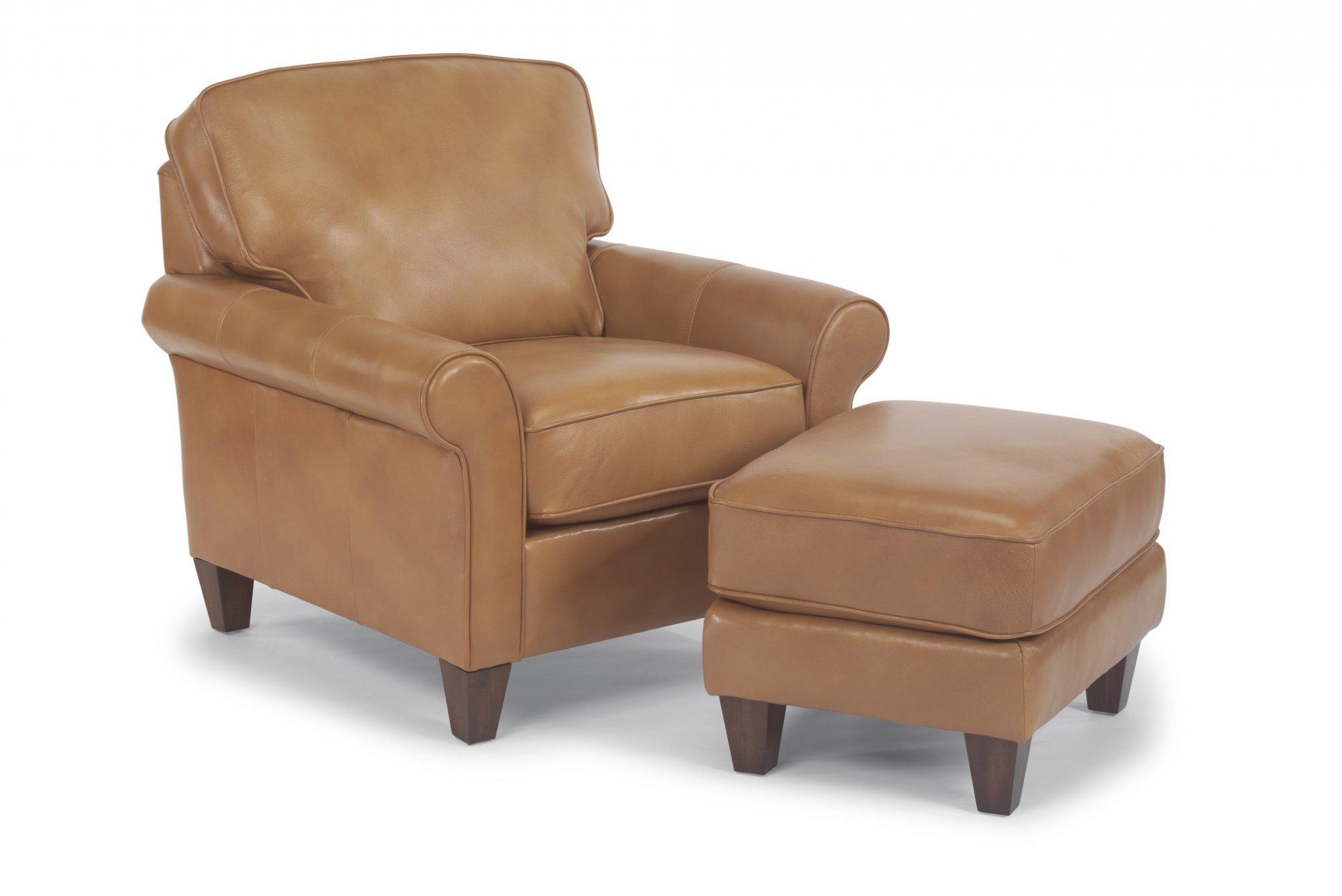 Flexsteel Westside  Leather Ottoman