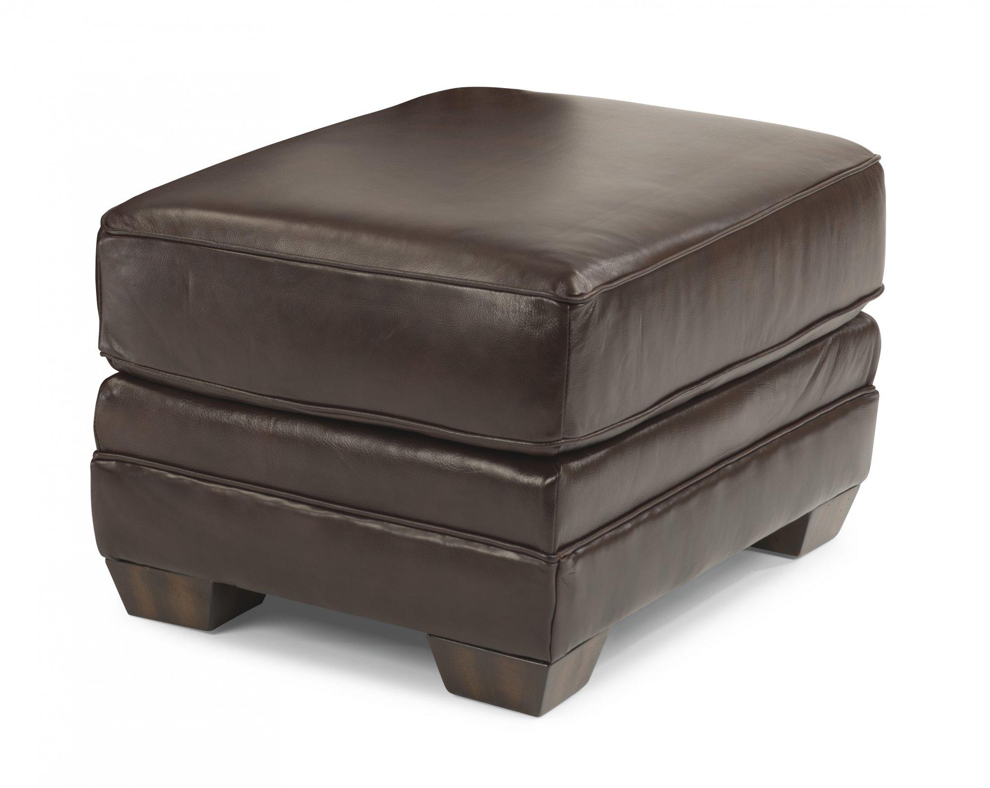 Flexsteel Harrison  Leather Ottoman