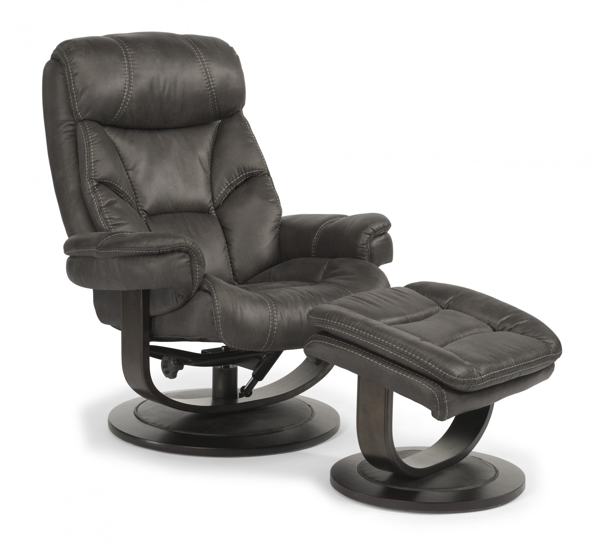 Flexsteel West  Fabric Chair and Ottoman
