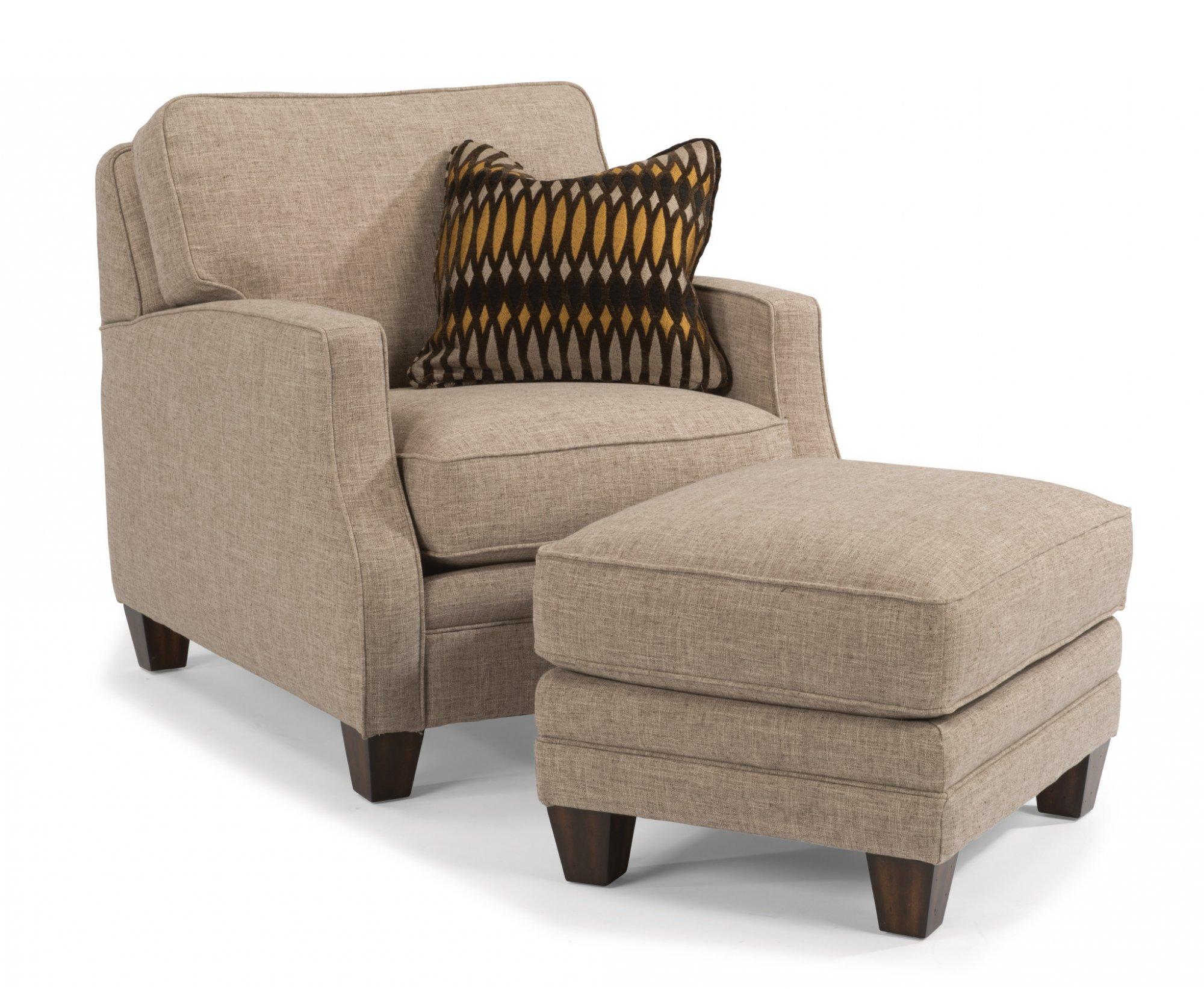 Flexsteel Lennox  Fabric Ottoman