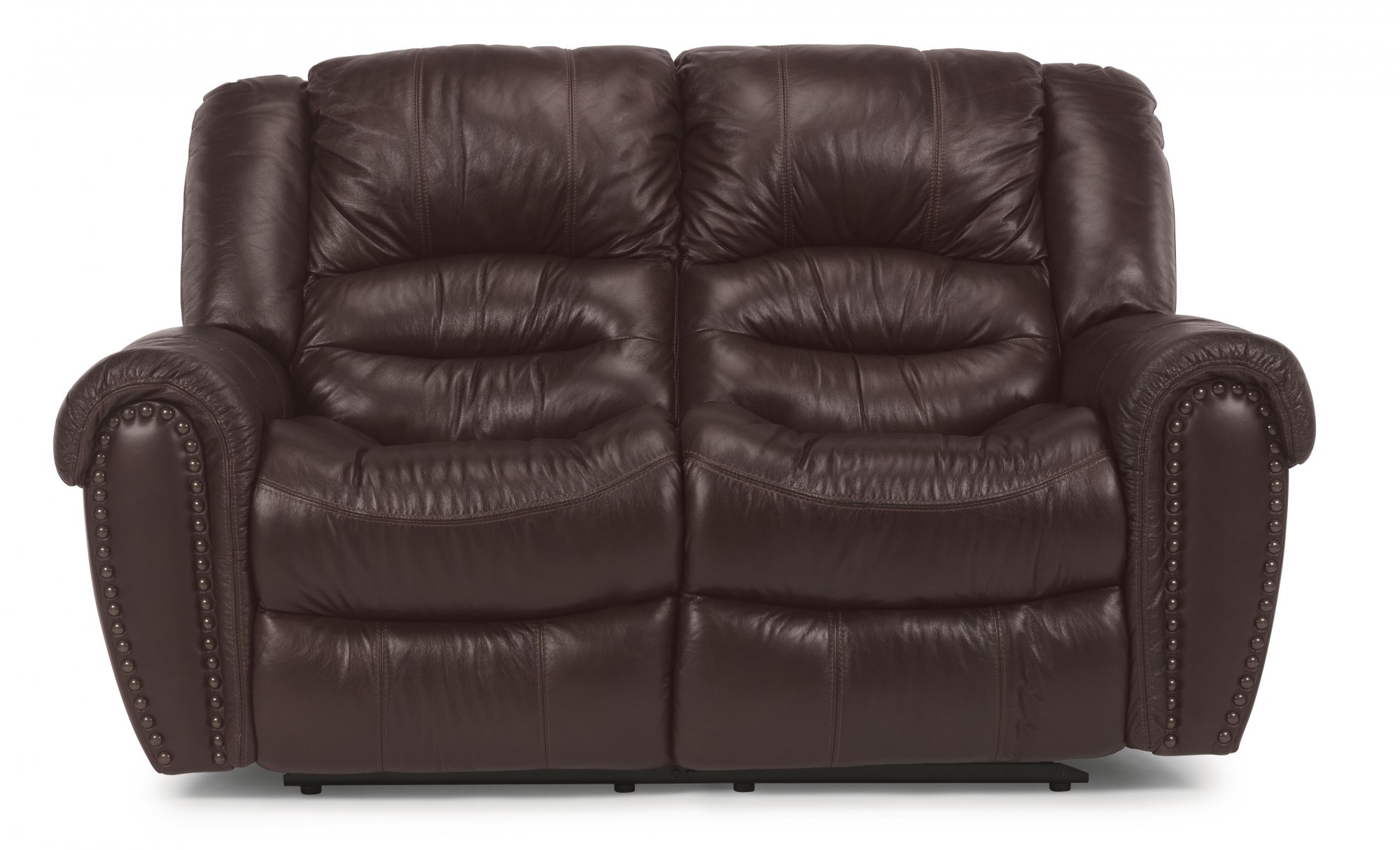 Flexsteel Crosstown  Leather Reclining Loveseat