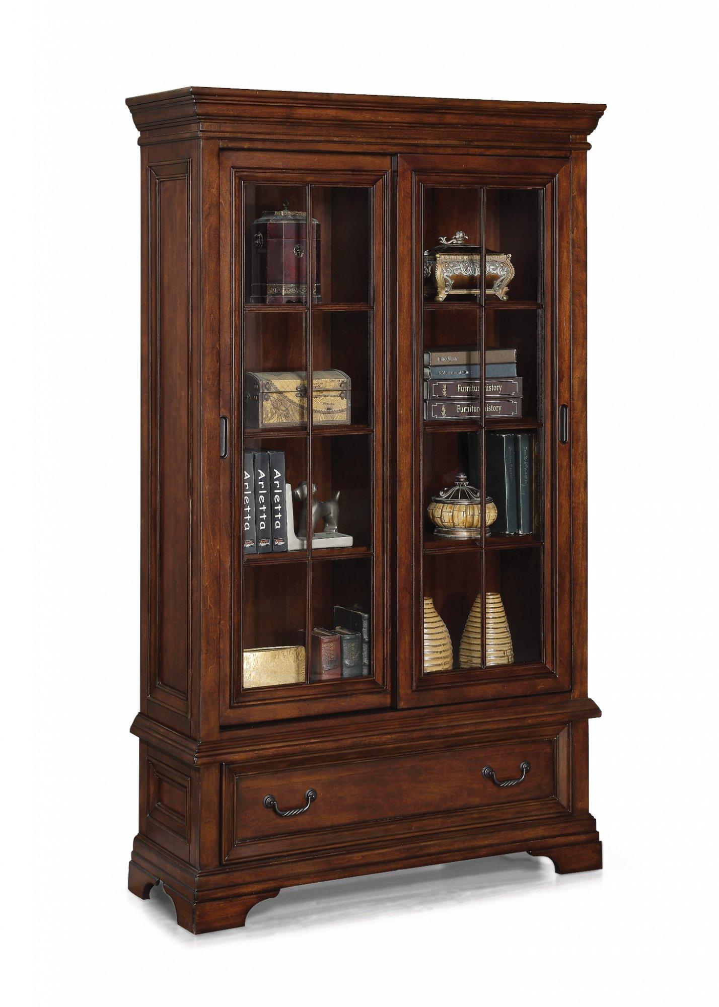 Flexsteel Woodlands  Sliding Door Bookcase