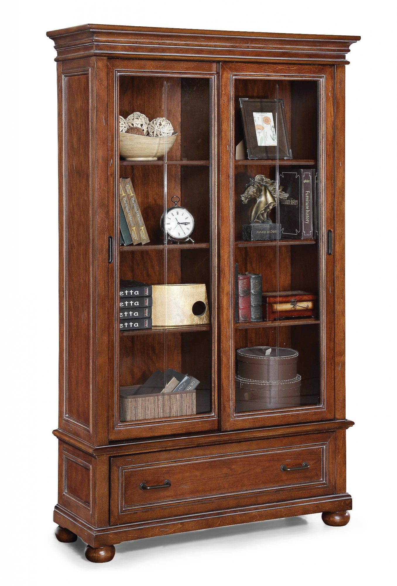 Flexsteel American Heritage  Sliding Door Bookcase